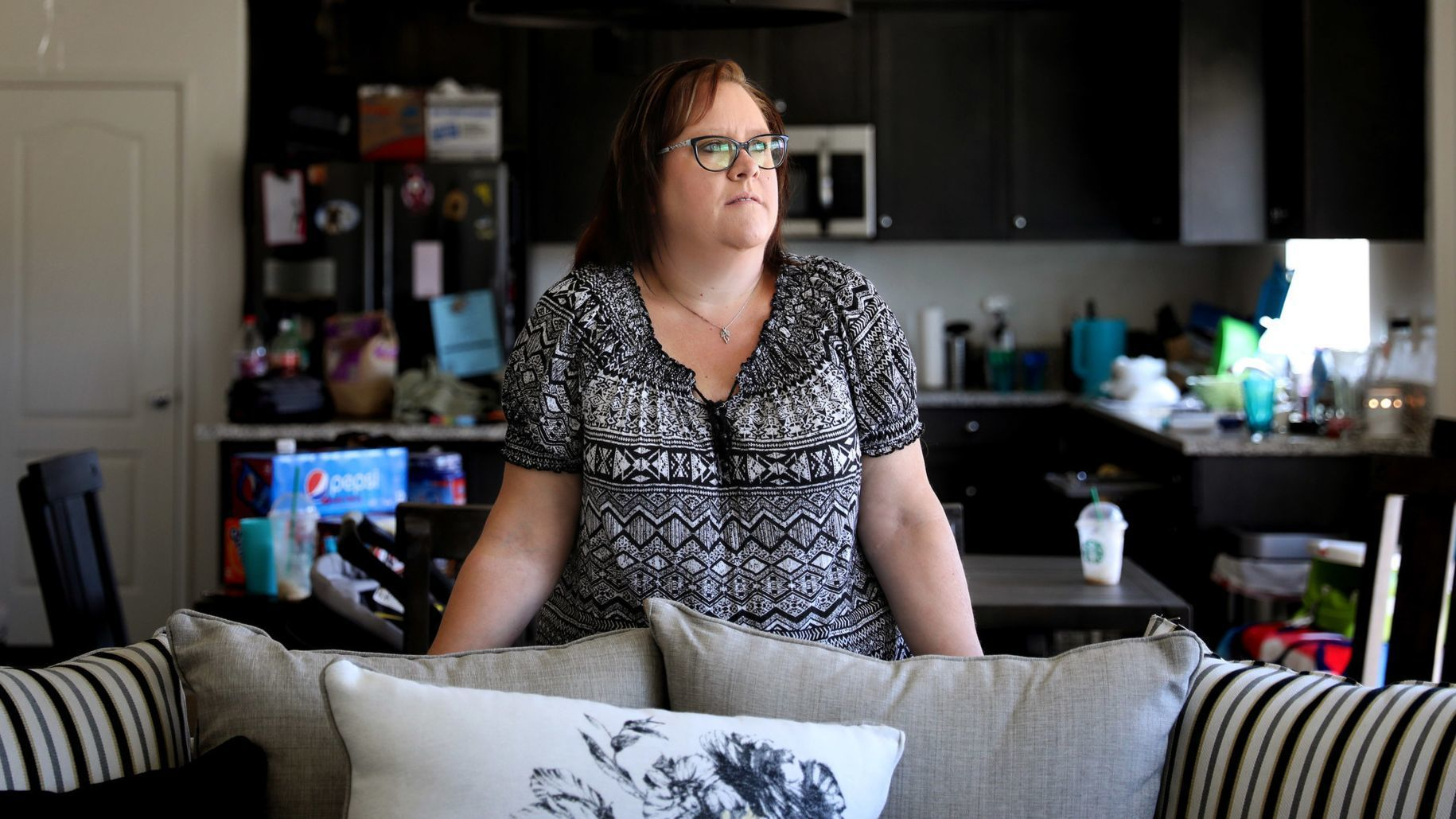 VICTORVILLE-CA-SEPTEMBER 2, 2018: Joyce McCord is photographed in her new home in Victorville on Sun