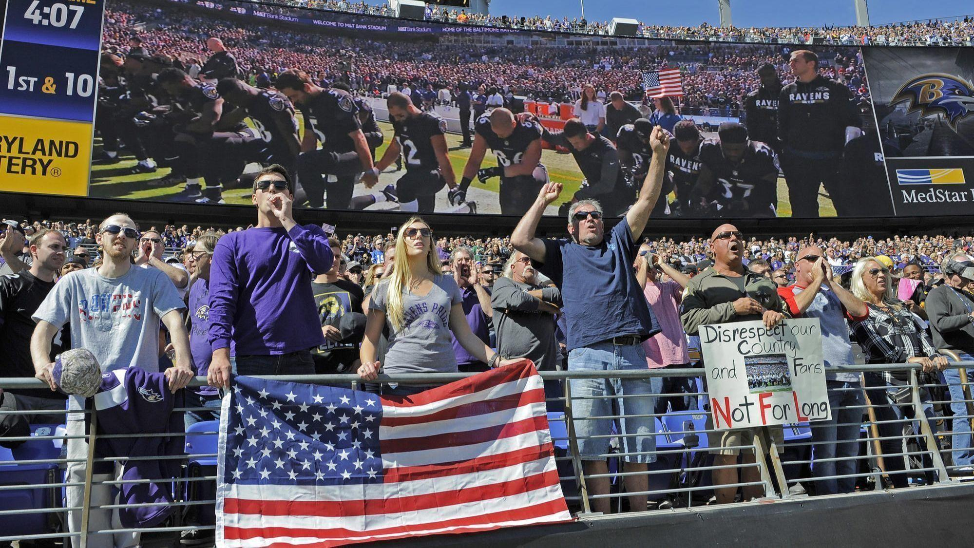 Defections From The Left And Right Nfl Fans Players Face Unsettled Times Baltimore Sun