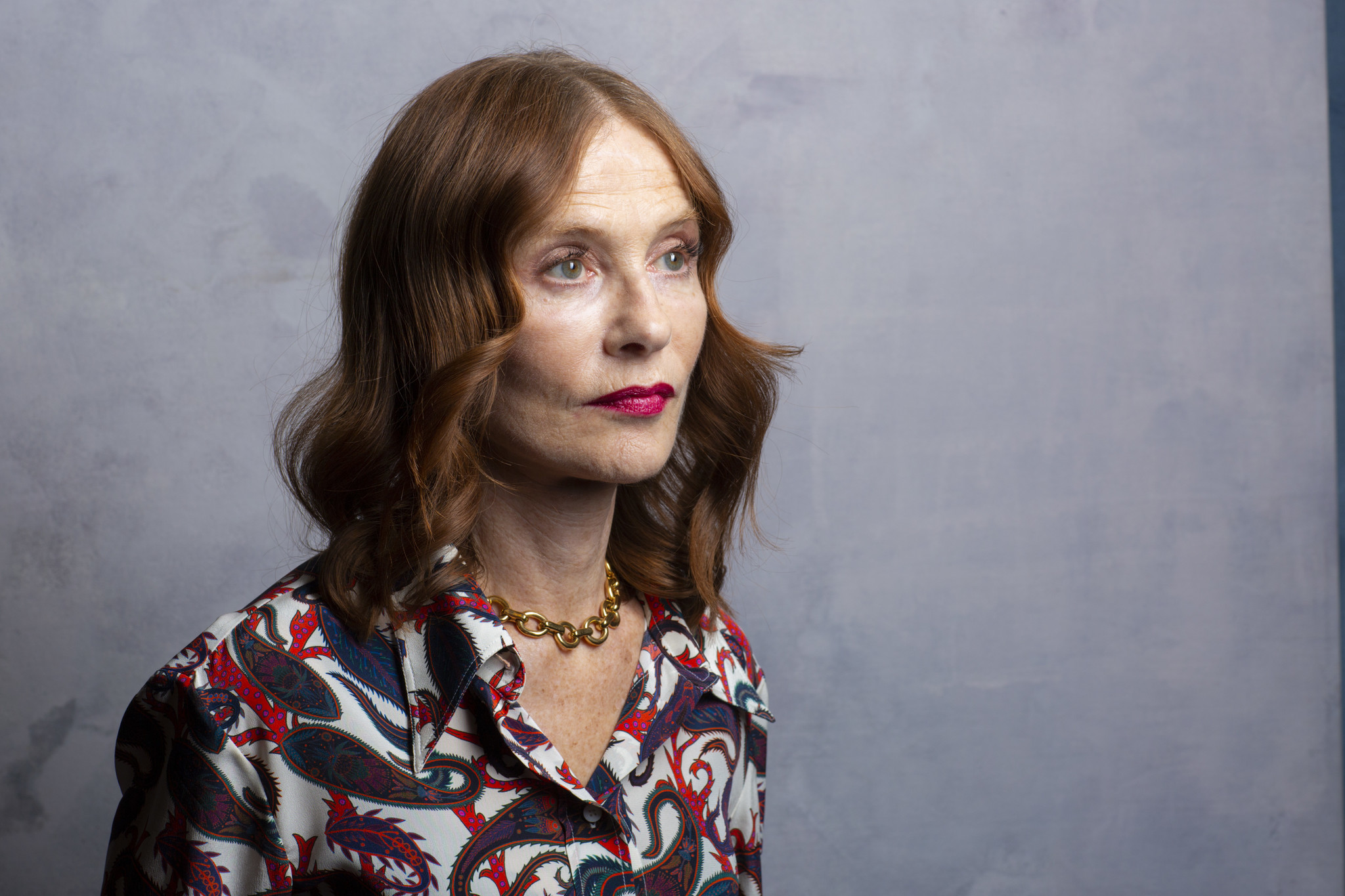 "TORONTO, ONT. — SEPTEMBER 07, 2018-- Actress Isabelle Huppert, from the film, ""Greta,"" photographe"