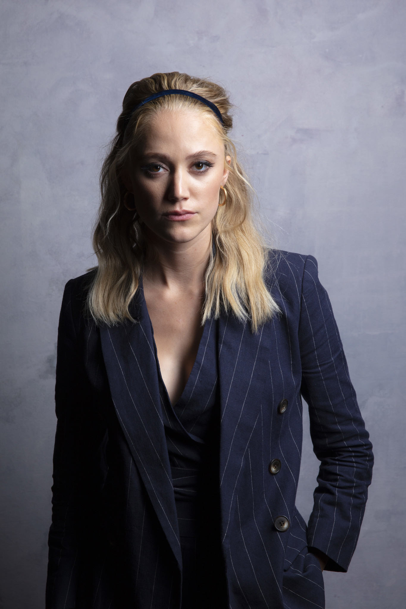 "TORONTO, ONT. — SEPTEMBER 07, 2018-- Actresses Maika Monroe from the film ""Greta,"" photographed i"