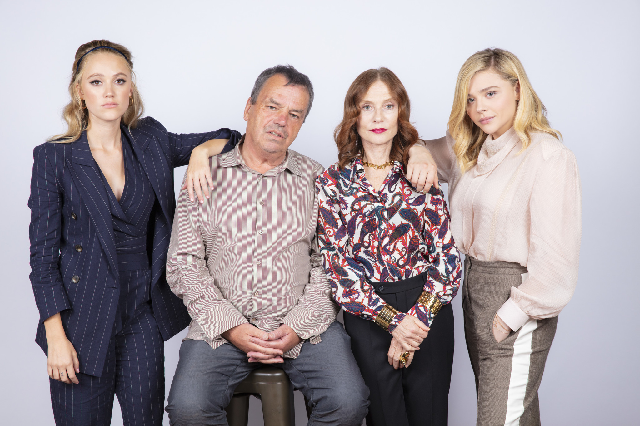 TORONTO, ONT. — SEPTEMBER 07, 2018-- Actresses Maika Monroe, director Neil Jordan, actress Isabell