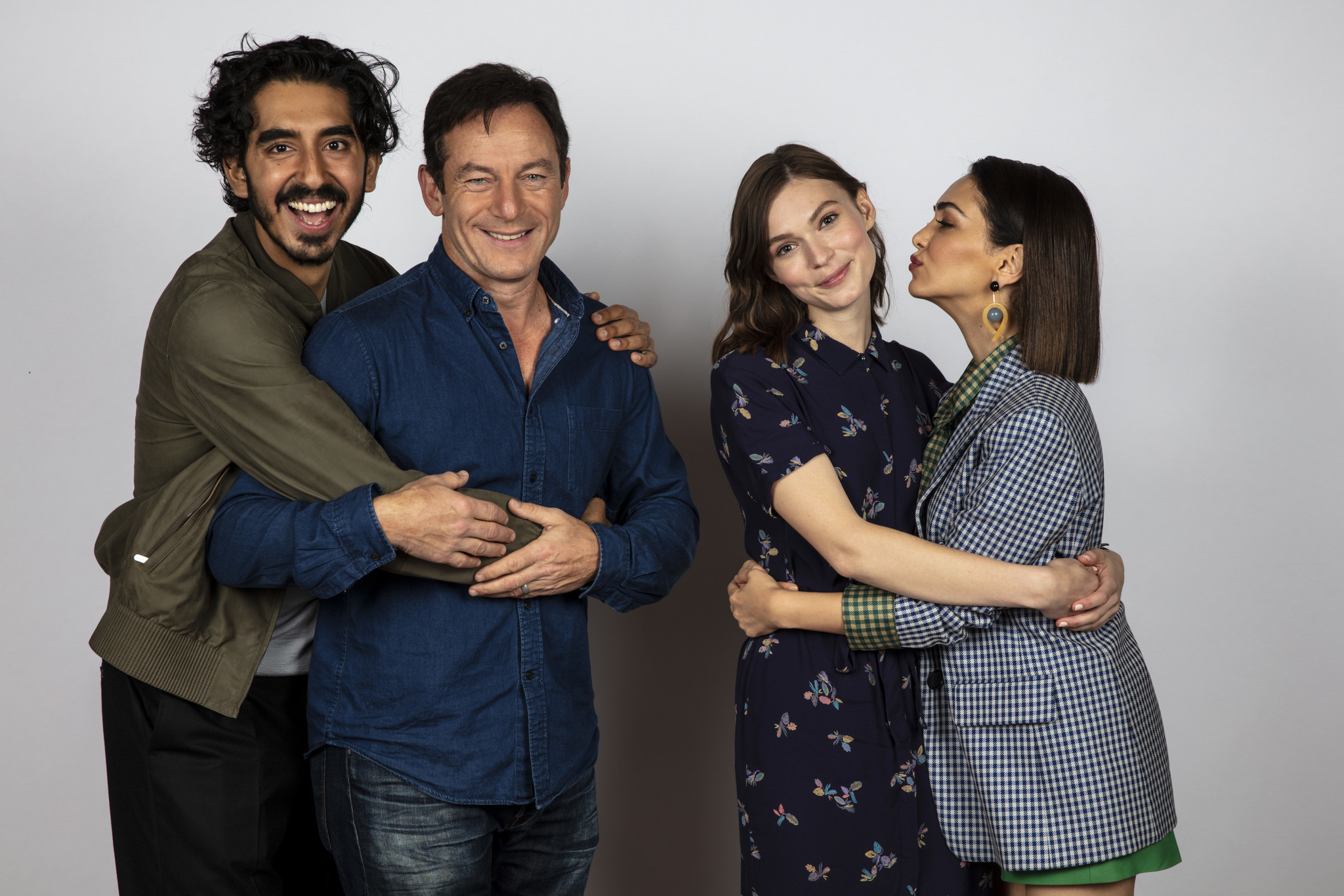 TORONTO, ONT. — SEPTEMBER 07, 2018-- Actor Dev Patel, actor Jason Isaacs, actress Tilda Cobham-Her
