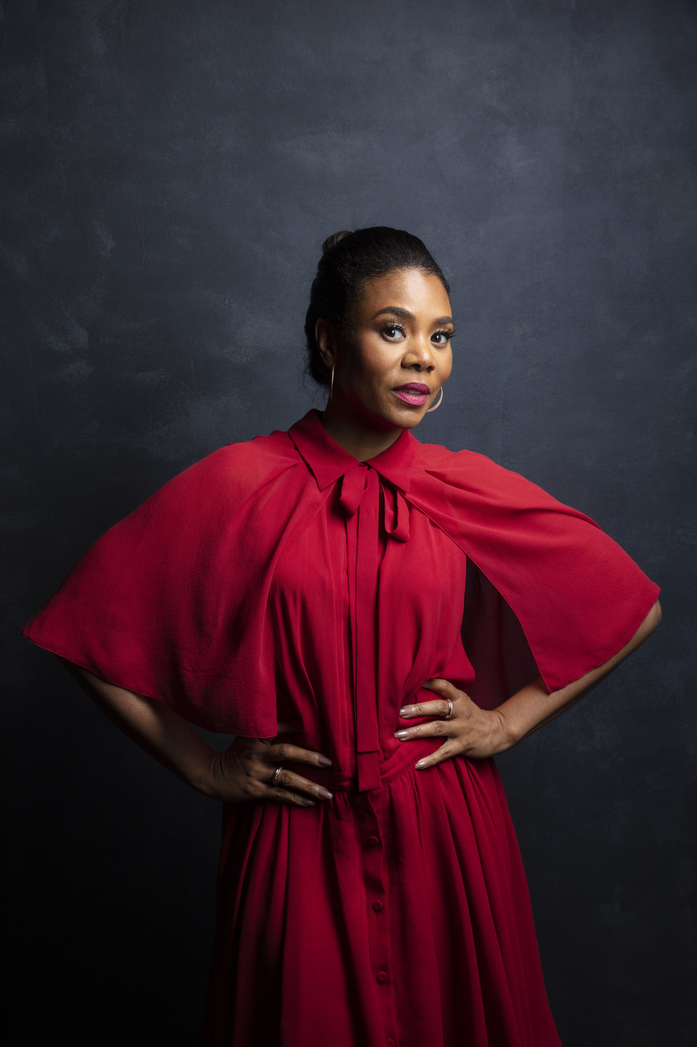 "TORONTO, ONT. — SEPTEMBER 07, 2018-- Actress Regina Hall, from the film, ""The Hate U Give,"" photog"