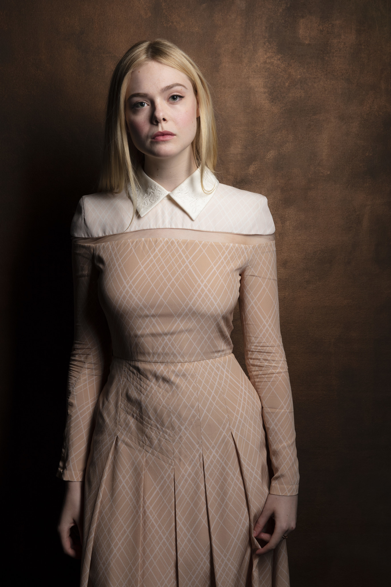 "TORONTO, ONT. — SEPTEMBER 08, 2018-- Actress Elle Fanning, from the film, ""Teen Spirit,"" photograp"