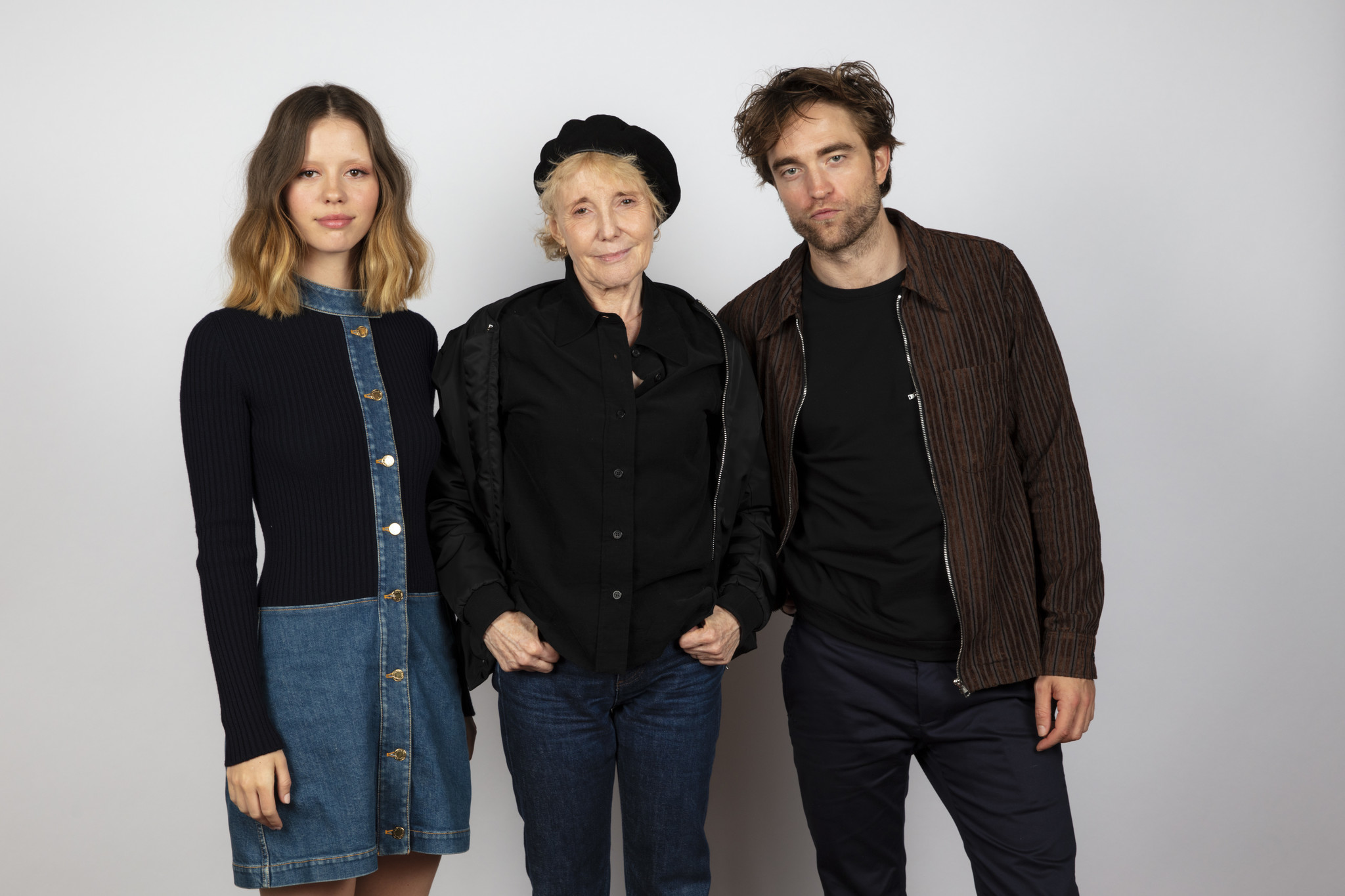 TORONTO, ONT., CA — SEPTEMBER 09, 2018-- Actress Mia Goth, director Claire Denis and actor Robert P