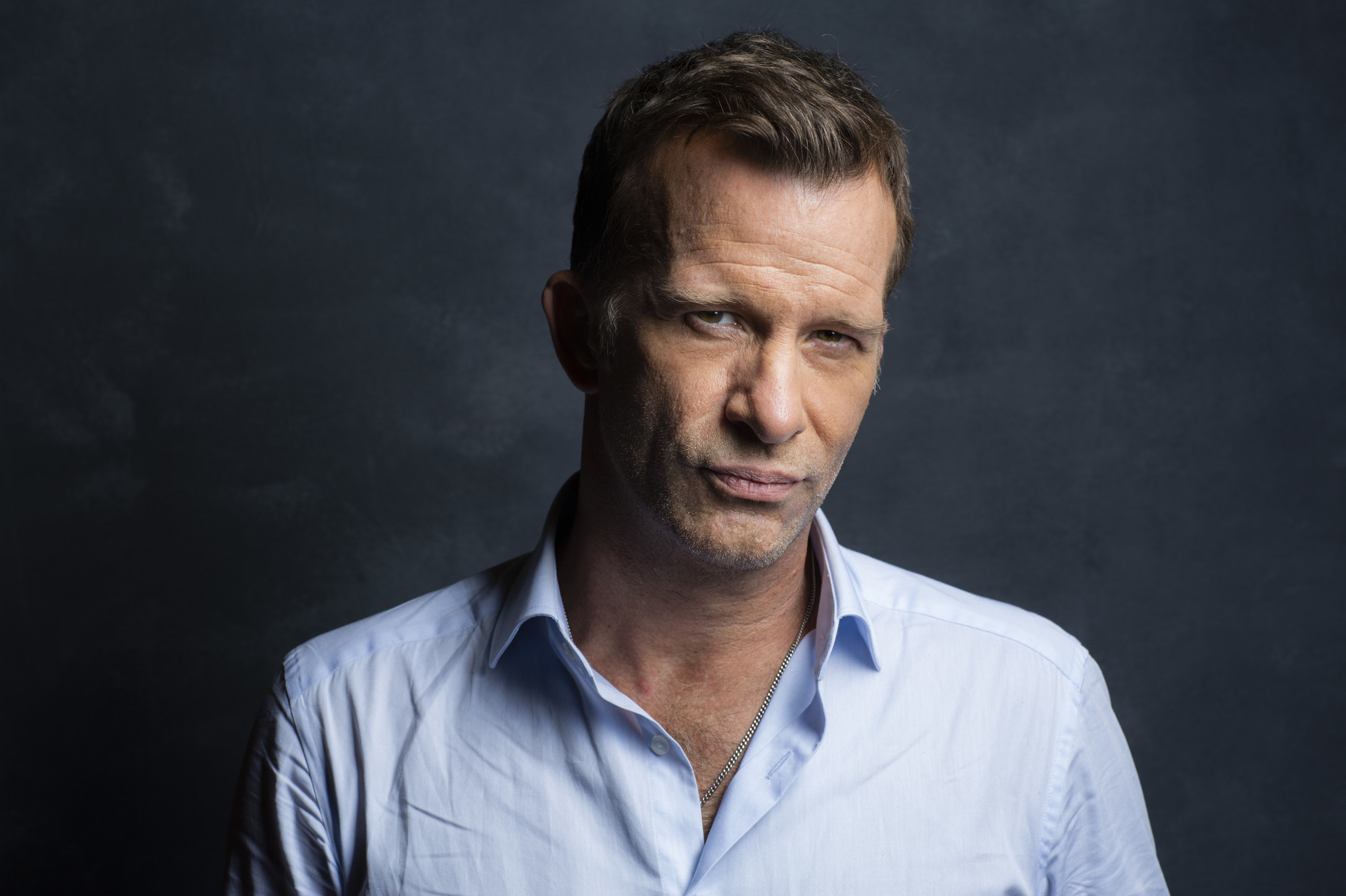 "TORONTO, ONT. — SEPTEMBER 08, 2018-- Actor Thomas Jane from the film, ""The Predator,"" photographed"