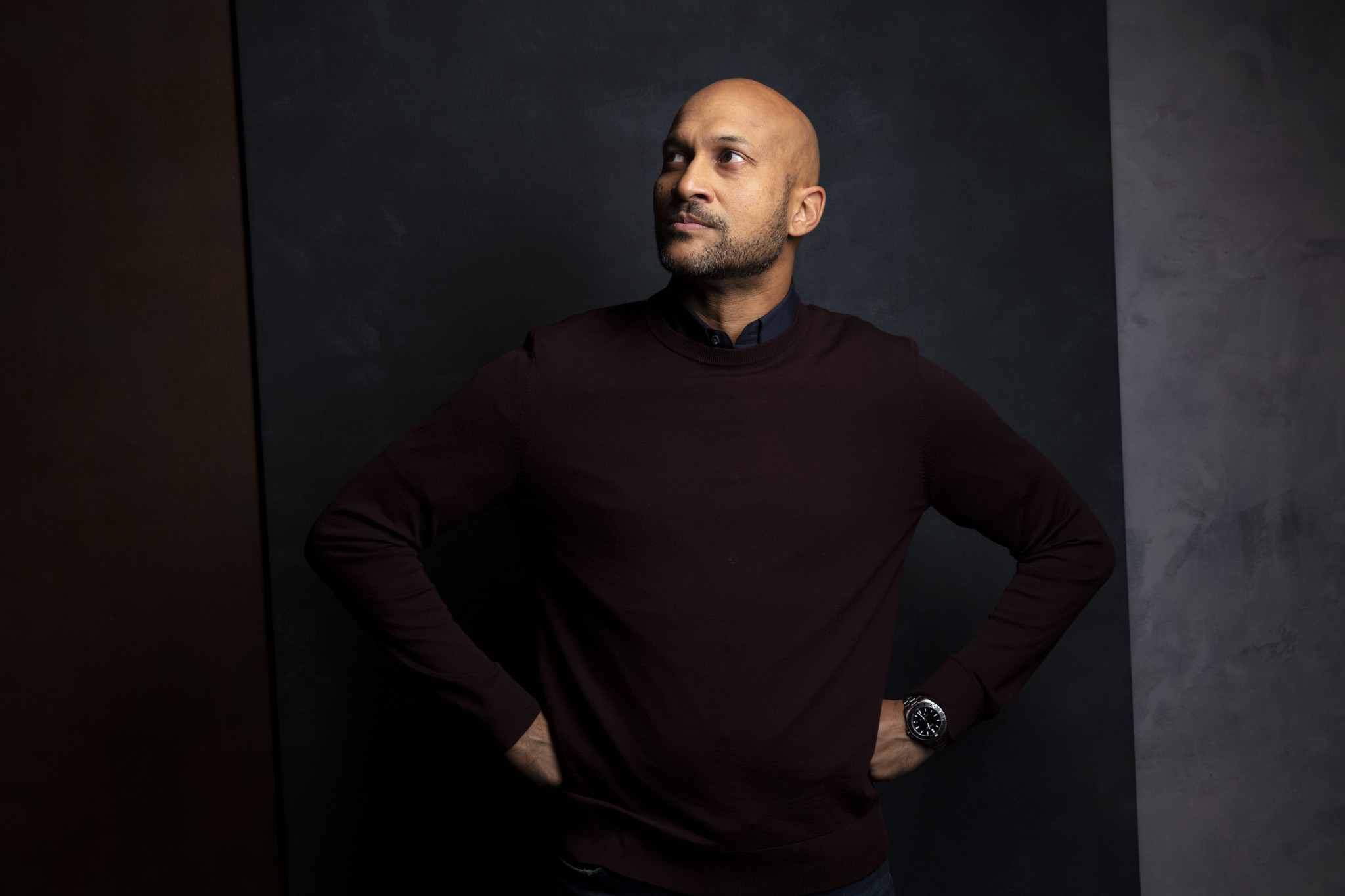 "TORONTO, ONT. — SEPTEMBER 08, 2018-- Actor Keegan-Michael Key from the film, ""The Predator,"" photo"
