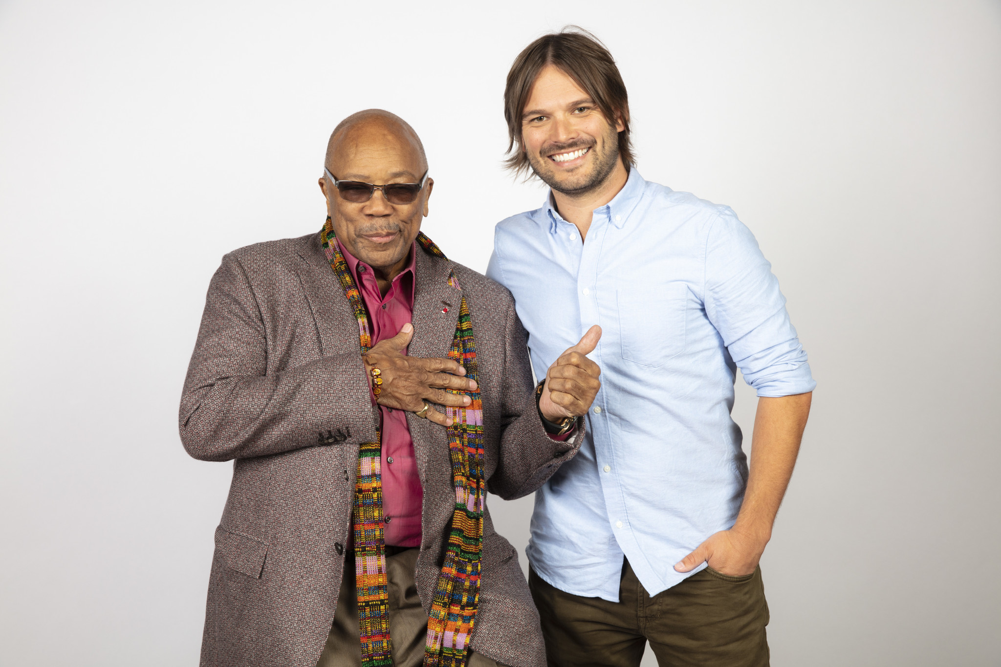 "TORONTO, ONT. — SEPTEMBER 08, 2018-- Subject Quincy Jones and director Alan Hicks from the film ""Q"