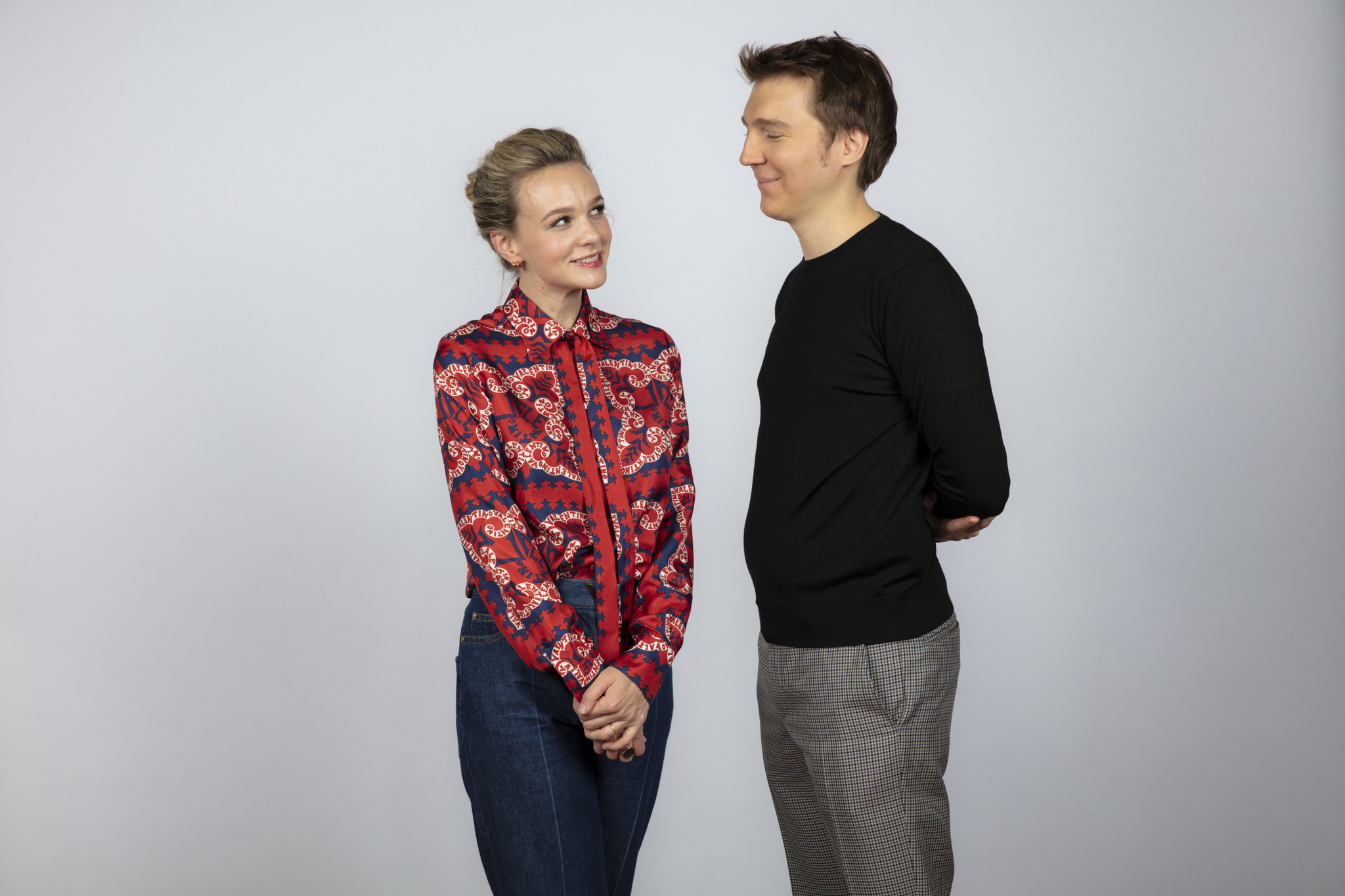 TORONTO, ONT., CA — SEPTEMBER 09, 2018-- Actress Cary Mulligan, and director Paul Dano, from the fi