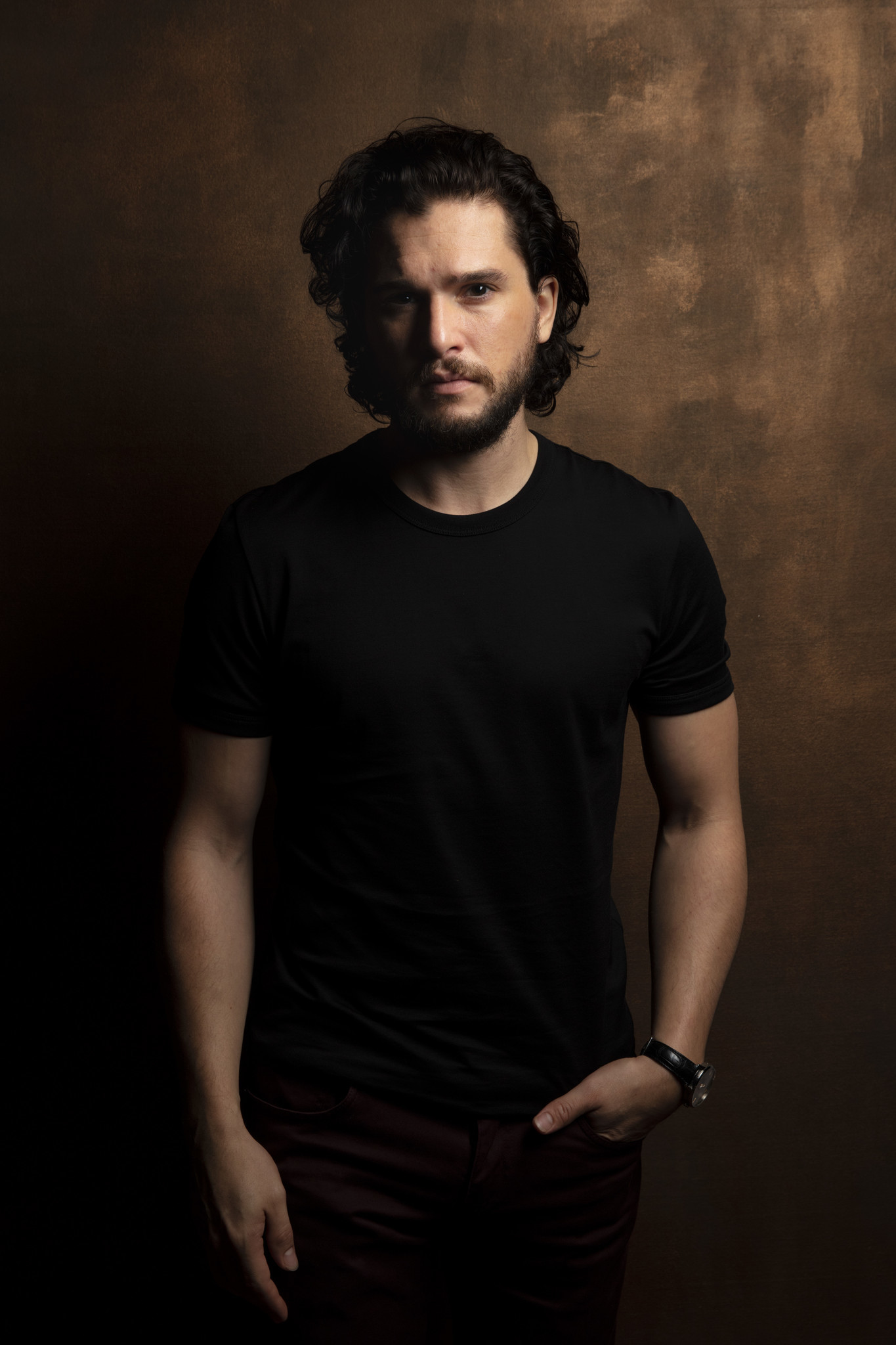 "TORONTO, ONT., CA — SEPTEMBER 09, 2018-- Actor Kit Harrington, from the film ""The Death and Life of"