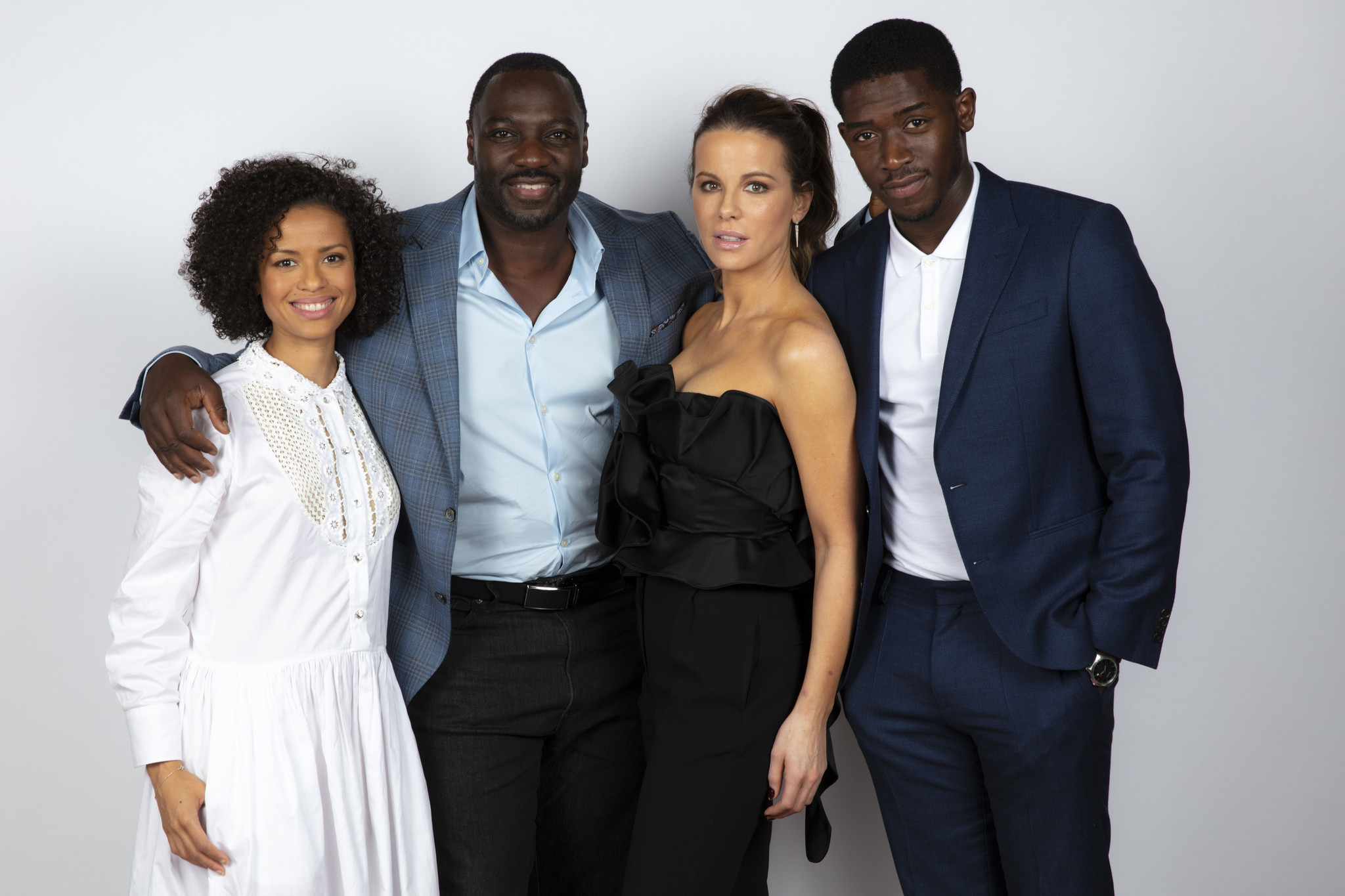 TORONTO, ONT., CA — SEPTEMBER 09, 2018-- Actress Gugu Mbatha-Raw, director Adewale Akinnuoye-Agbaje