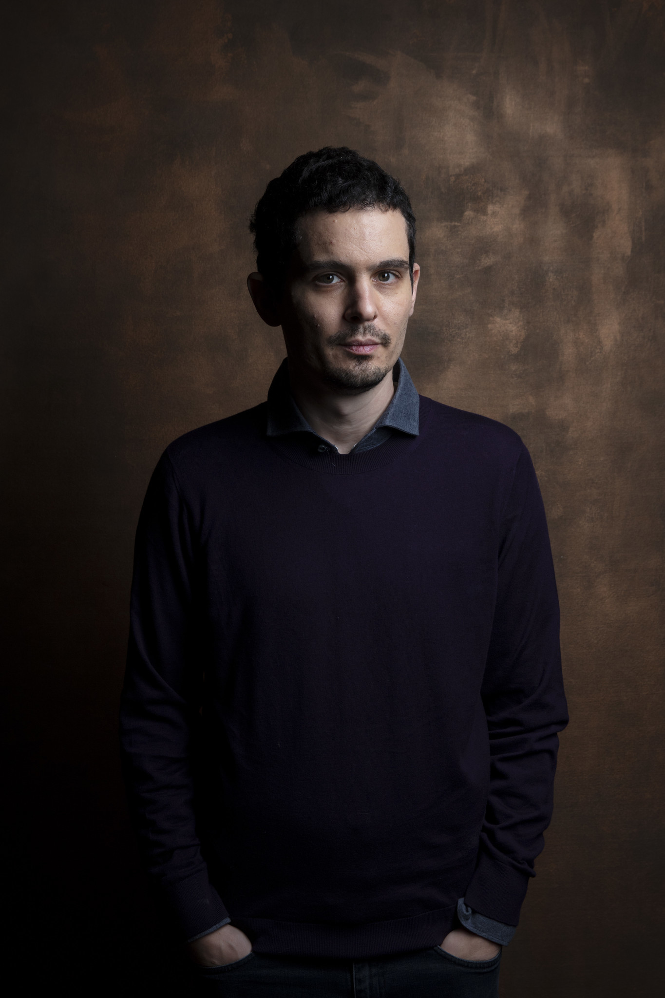 "TORONTO, ONT., CA — SEPTEMBER 10, 2018-- Director Damien Chazelle, from ""First Man,"" photographed i"
