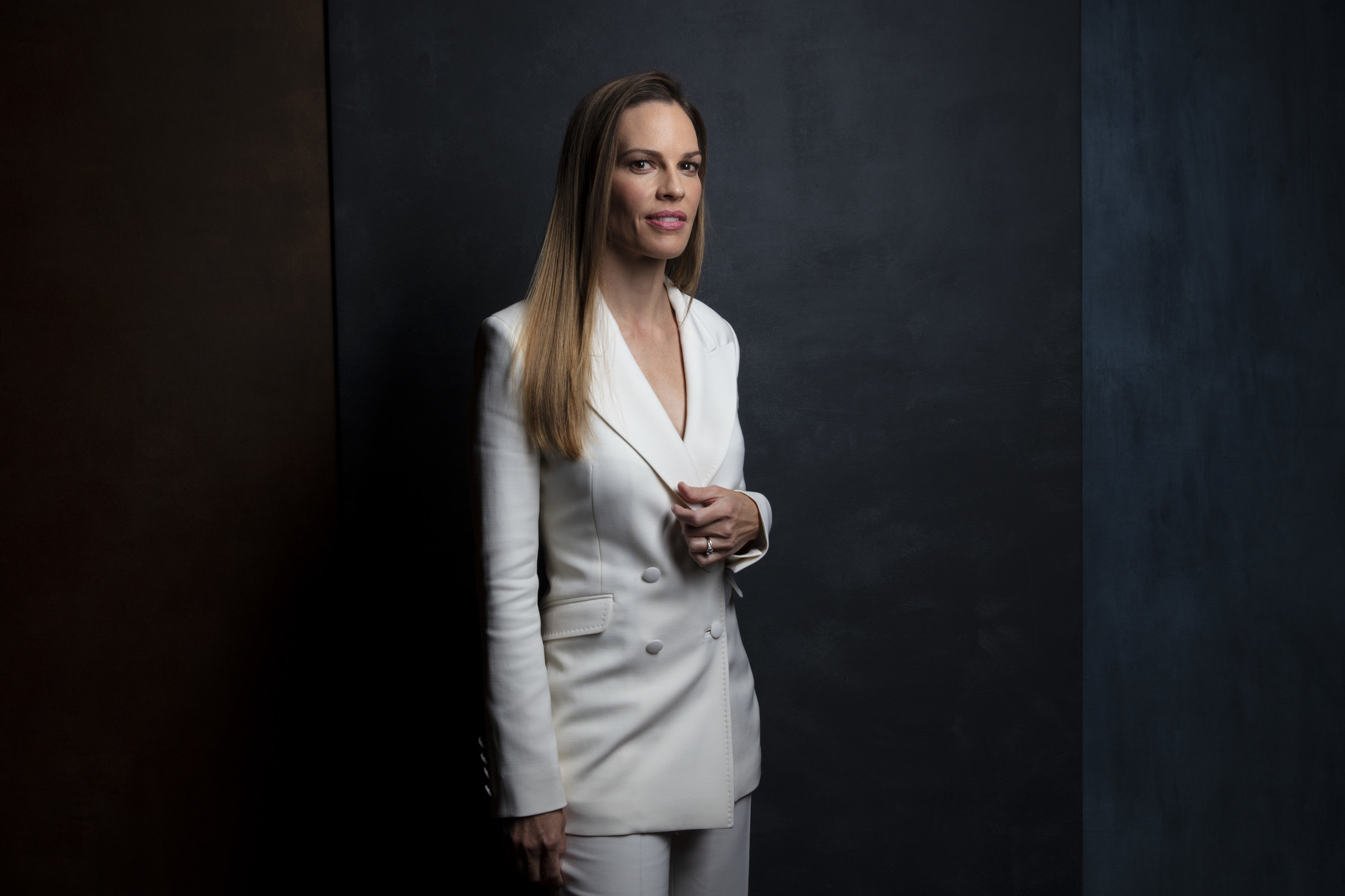 "TORONTO, ONT., CA — SEPTEMBER 10, 2018-- Actress Hilary Swank, from ""What They Had,"" photographed i"