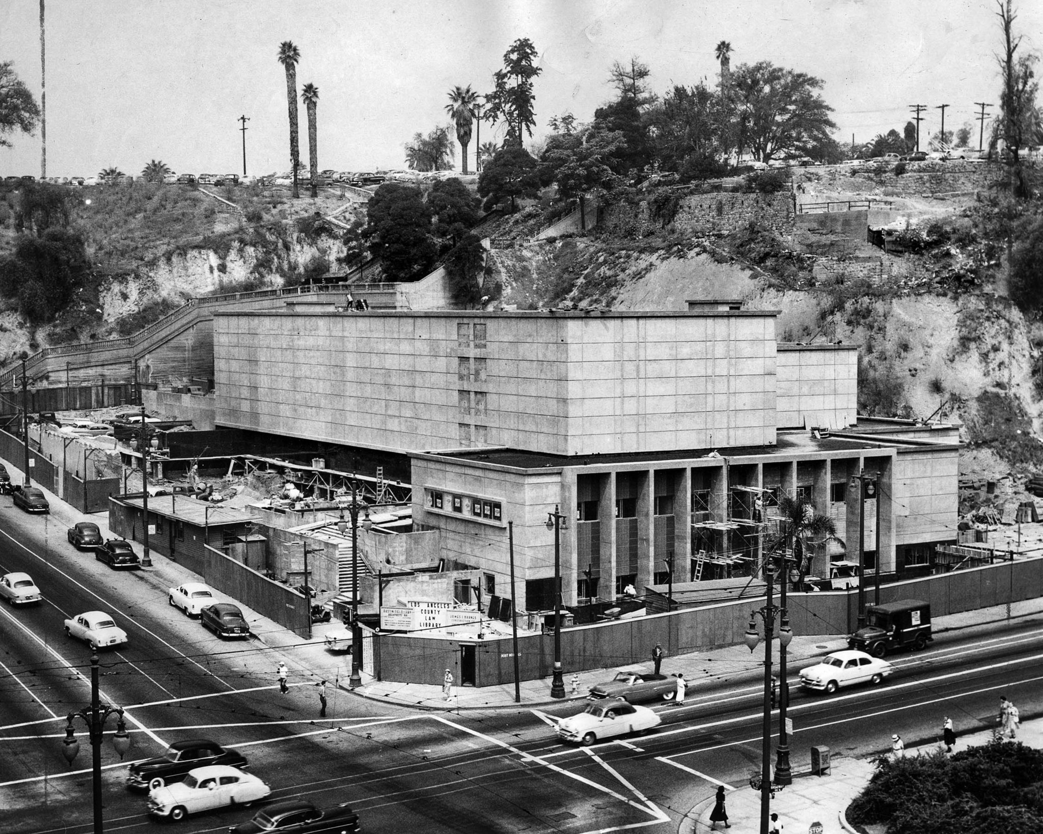 1953: The Los Angeles County Law Library at 1st St. and Broadway near completion. This photo was pub
