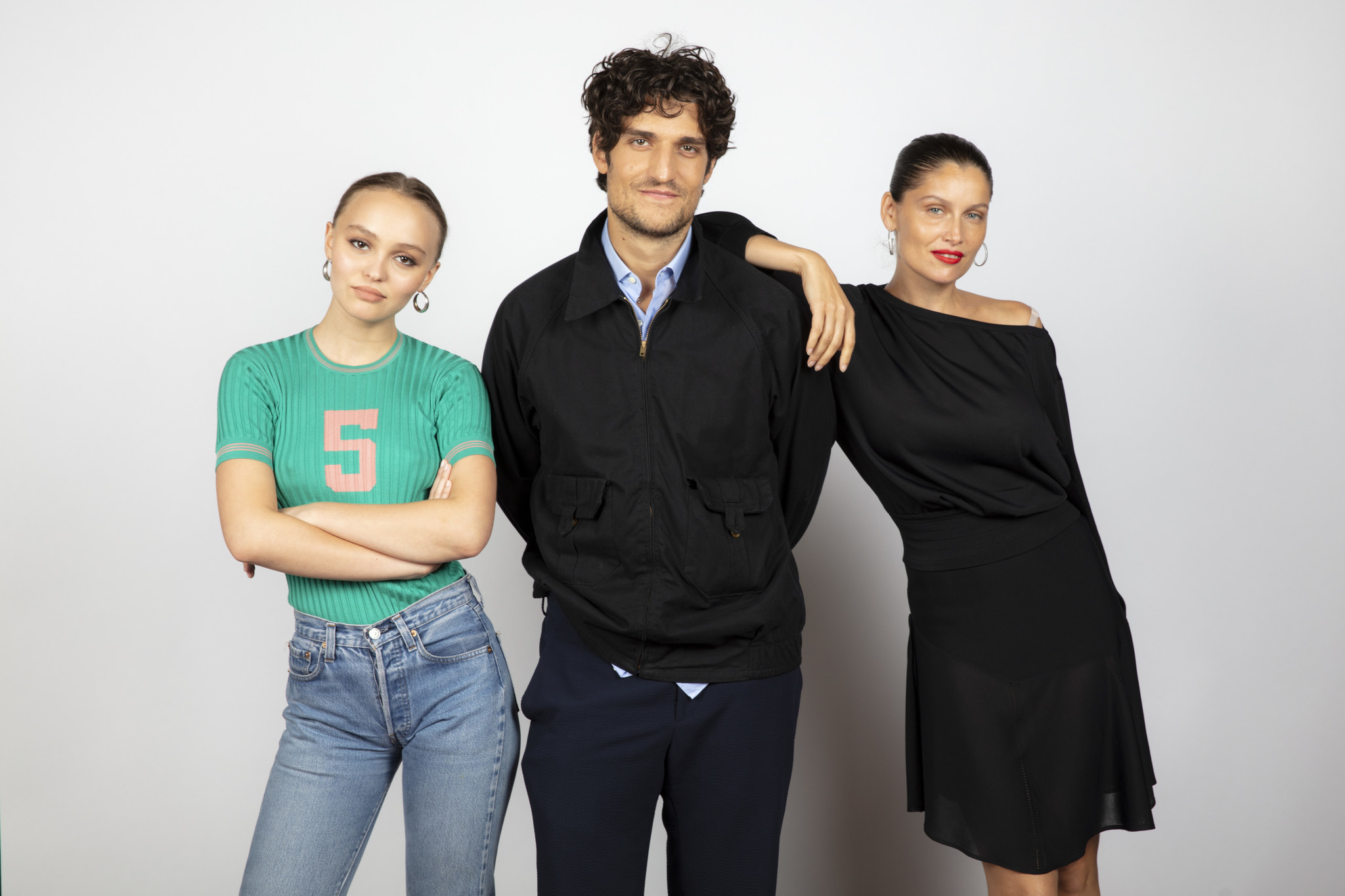 TORONTO, ONT., CA — SEPTEMBER 10, 2018-- Actress Lily-Rose Depp, director Louis Garrel, and actress