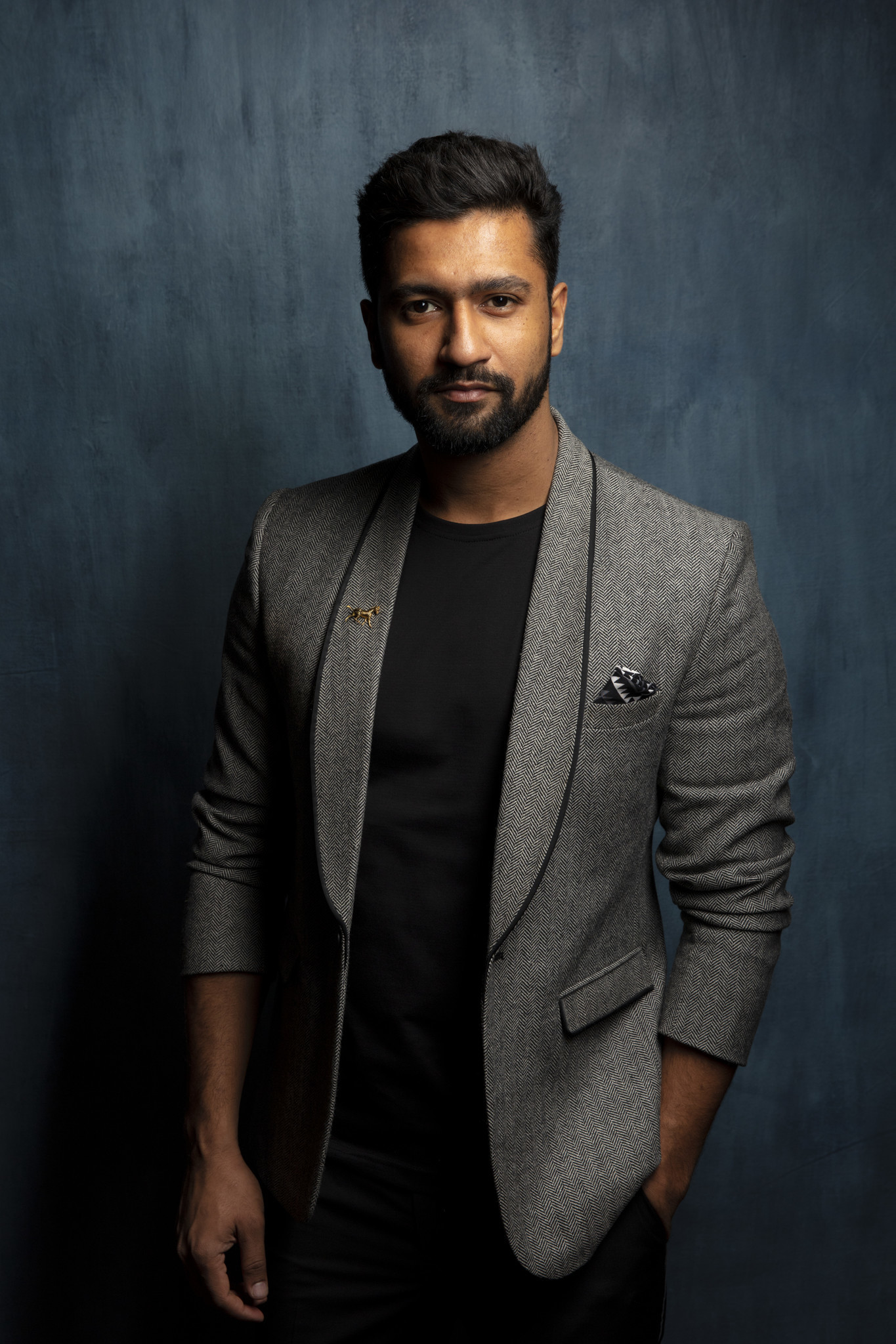 "TORONTO, ONT., CA — SEPTEMBER 11, 2018-- Actor Vicky Kaushal, from tje film ""Husband Material,"" pho"