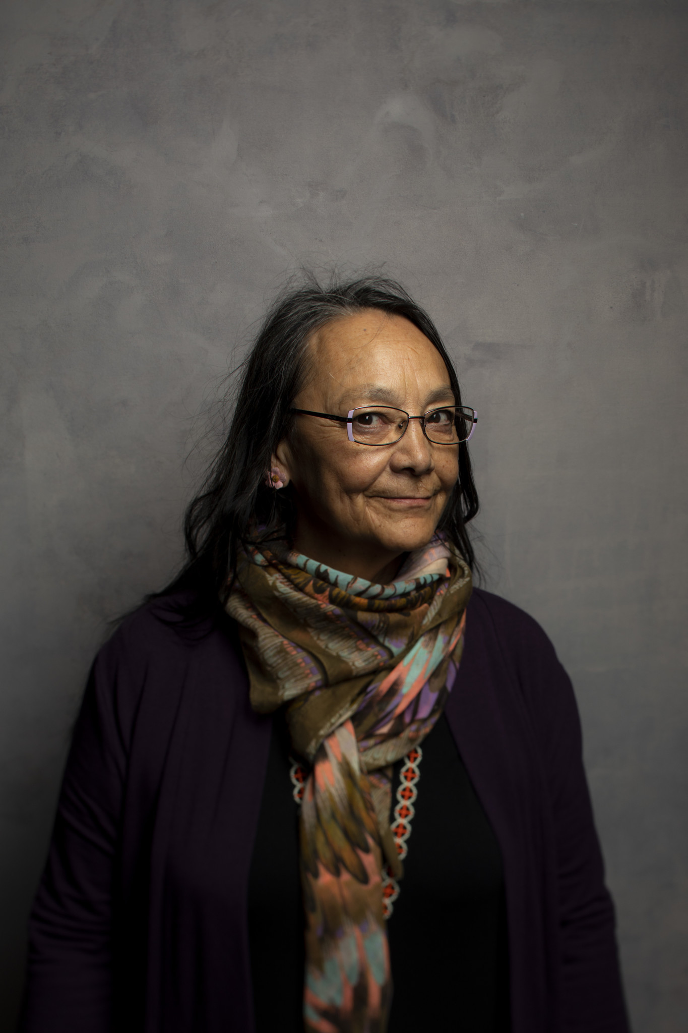 "TORONTO, ONT., CA — SEPTEMBER 11, 2018-- Actres Tantoo Cardinal, from tje film ""Falls Around Her,"""