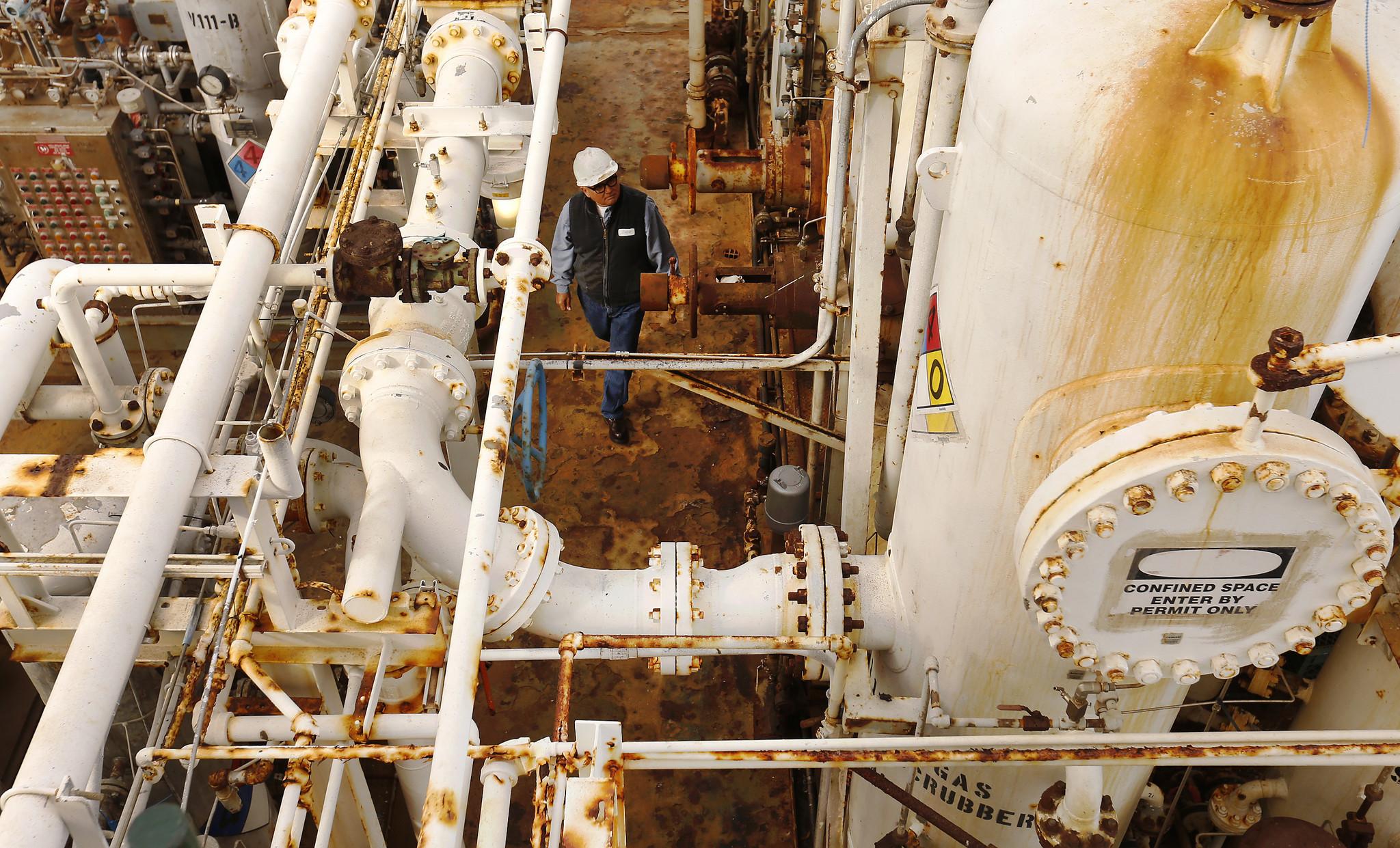 A historic oil platform off Santa Barbara turns into a rusty
