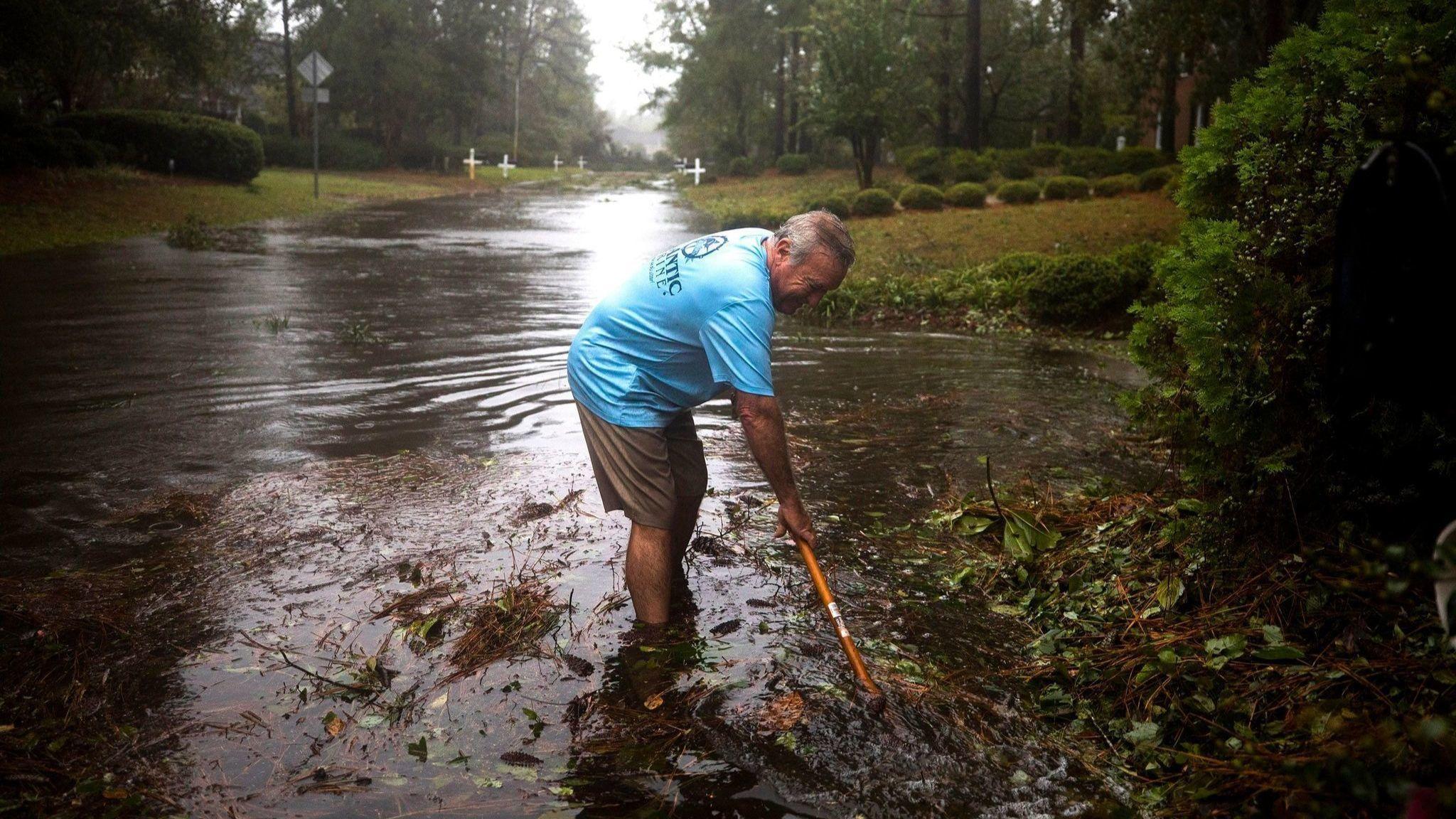 Hurricane Florence Strikes East Coast of United States, Wilmington, USA - 14 Sep 2018
