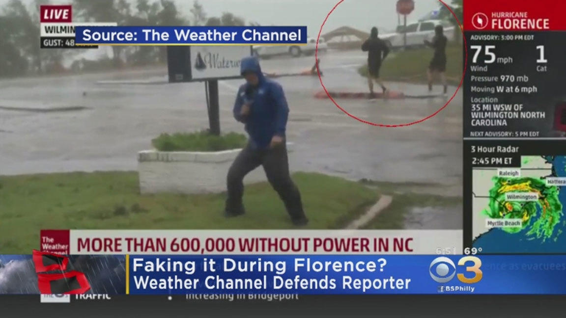 Hurricane lesson No  1: Laugh at The Weather Channel