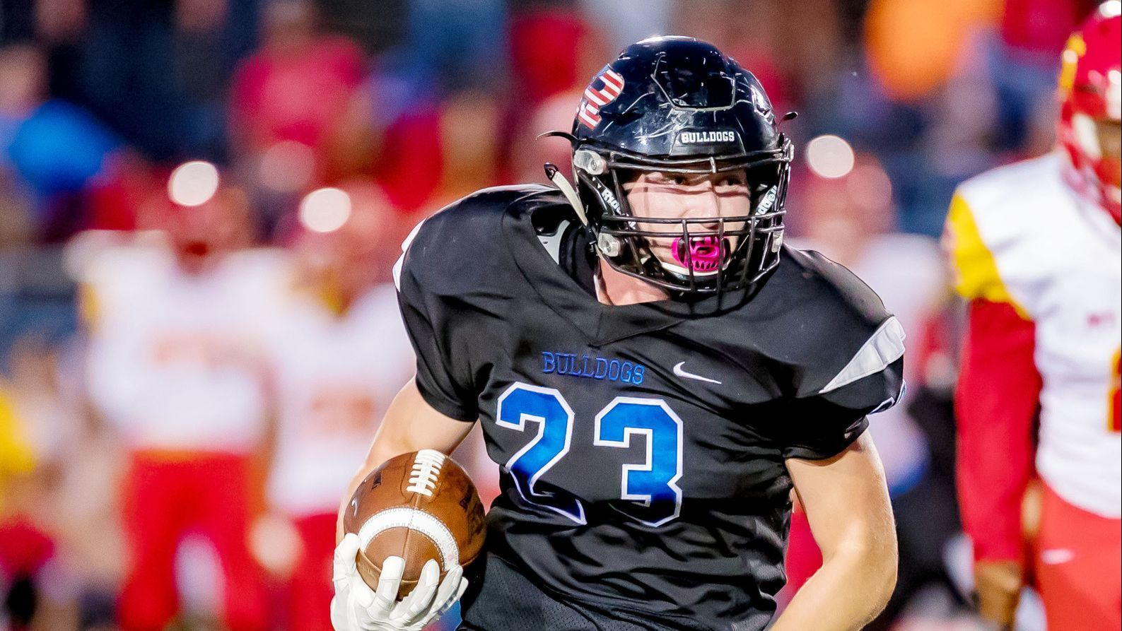Senior Sean McDonald rushes for two touchdowns in Friday's win over Mt. Carmel.