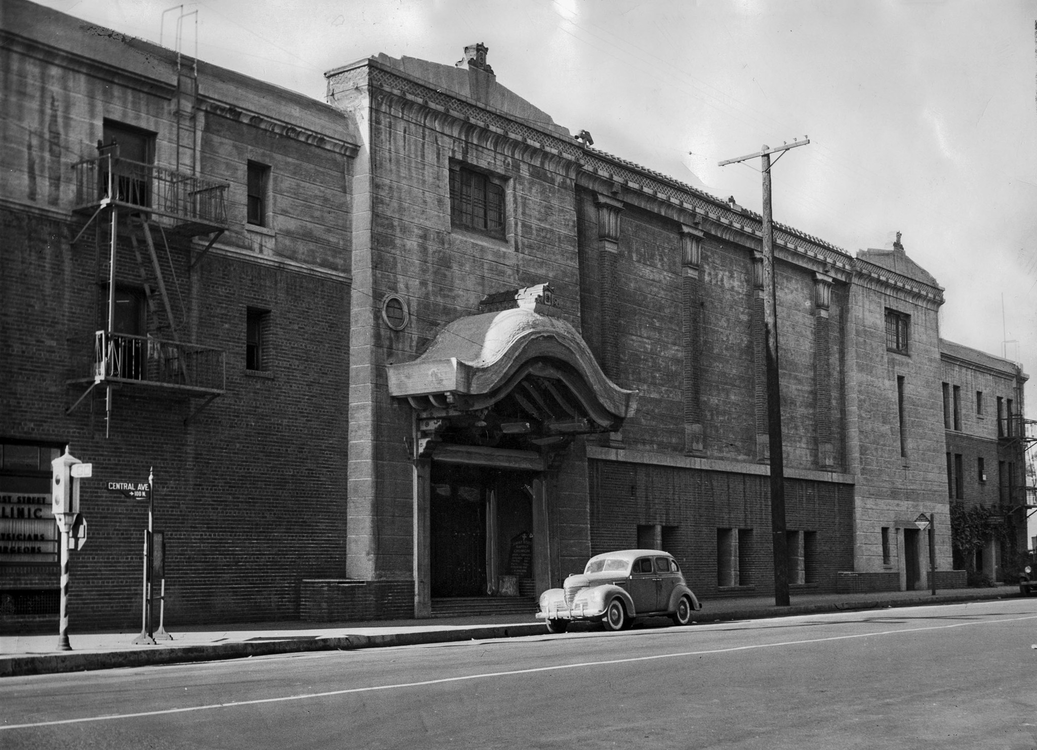Dec. 30, 1944: Photo of the Hompa Hongwanja Buddhist Temple in Little Tokyo. During the World War II