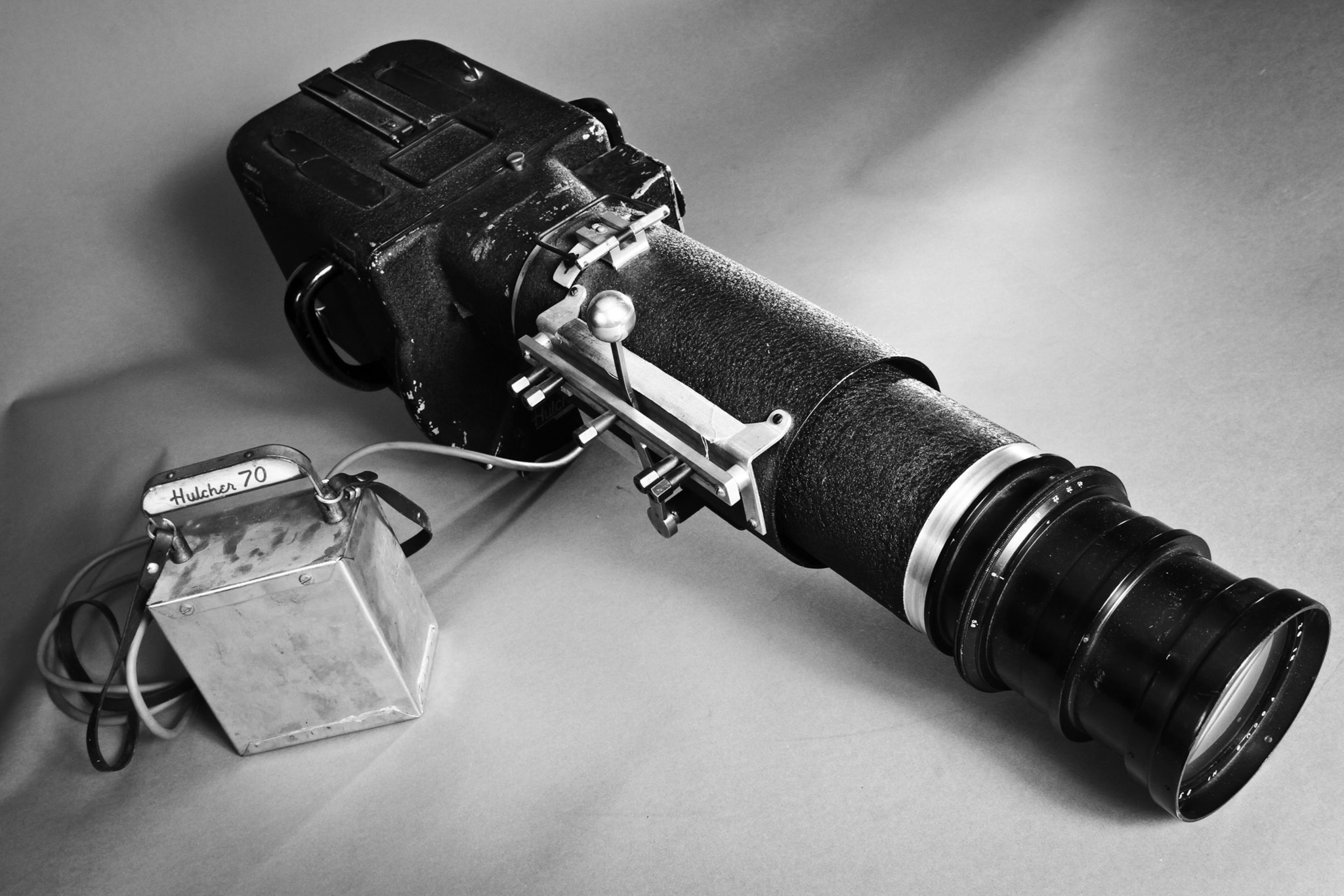 1950s era 70 mm Hulcher, a motorized, high-speed camera capable of taking a minimum of 20 frames per