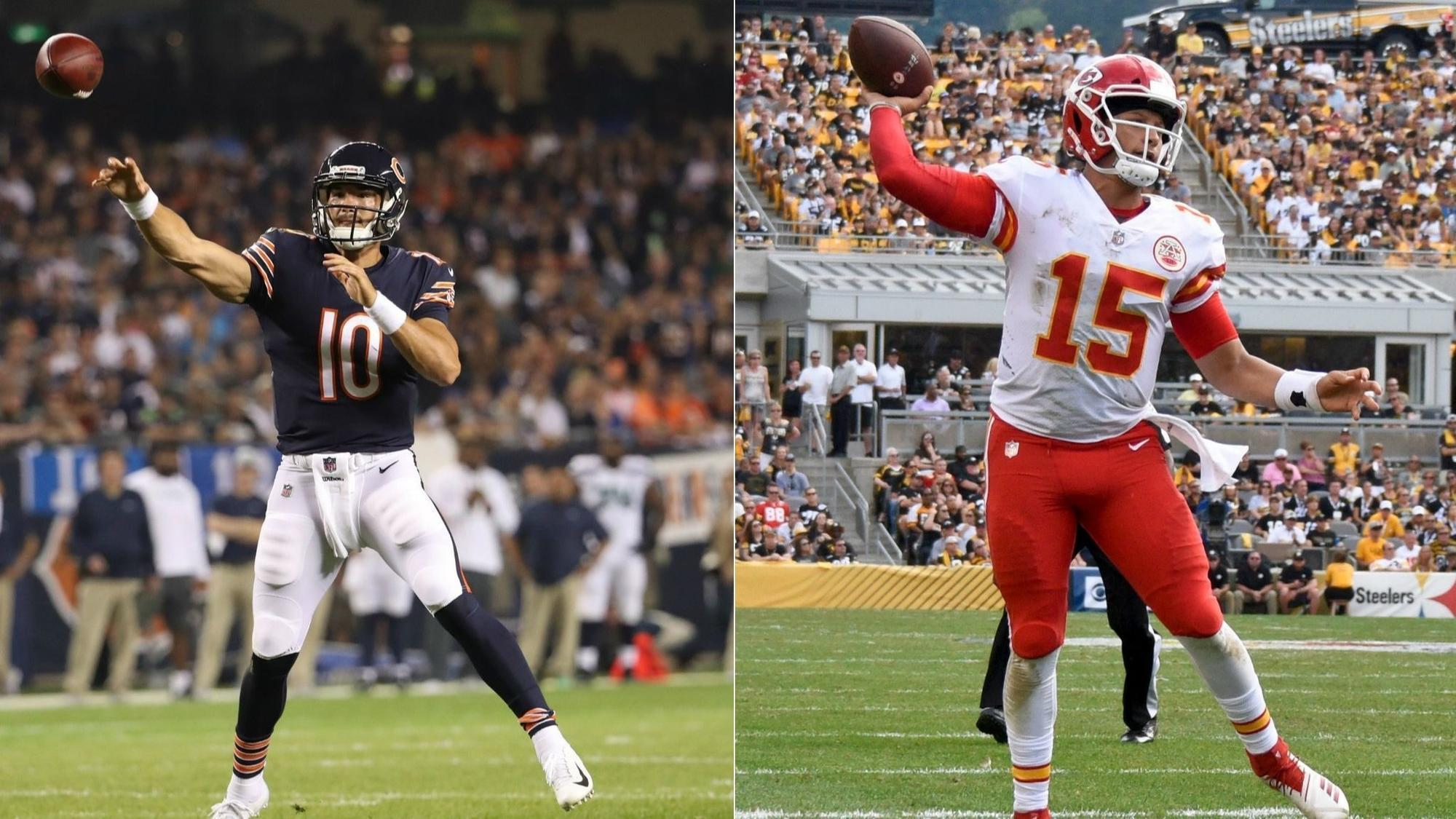 What S Fair In Comparing Mitch Trubisky And Patrick Mahomes Matt Nagy Stresses Time In Offense