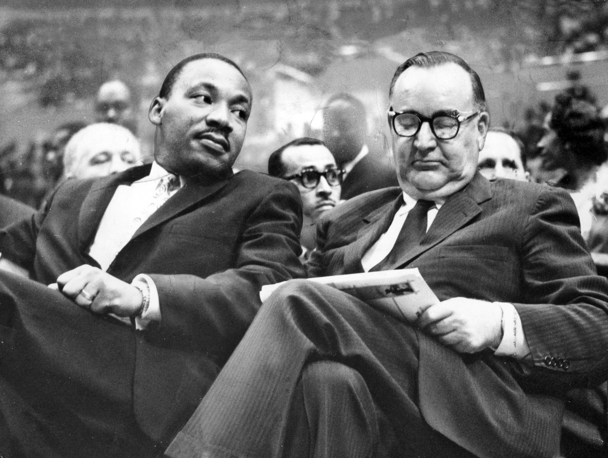 Pat Brown and Martin Luther King Jr.