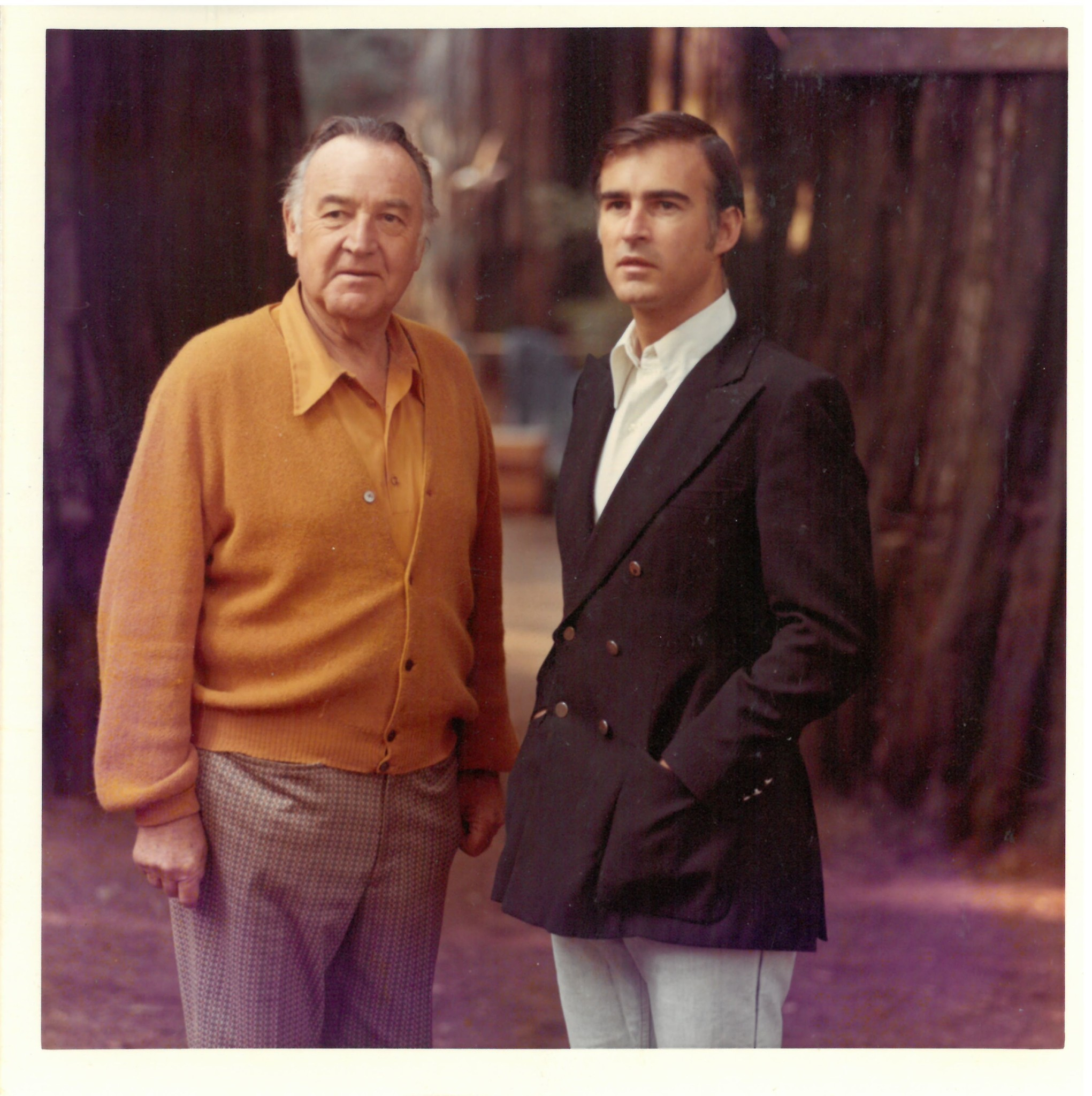 "Image from ""The Browns of California"" book by Miriam Pawel. Circa 1970s. Father and son shared core"