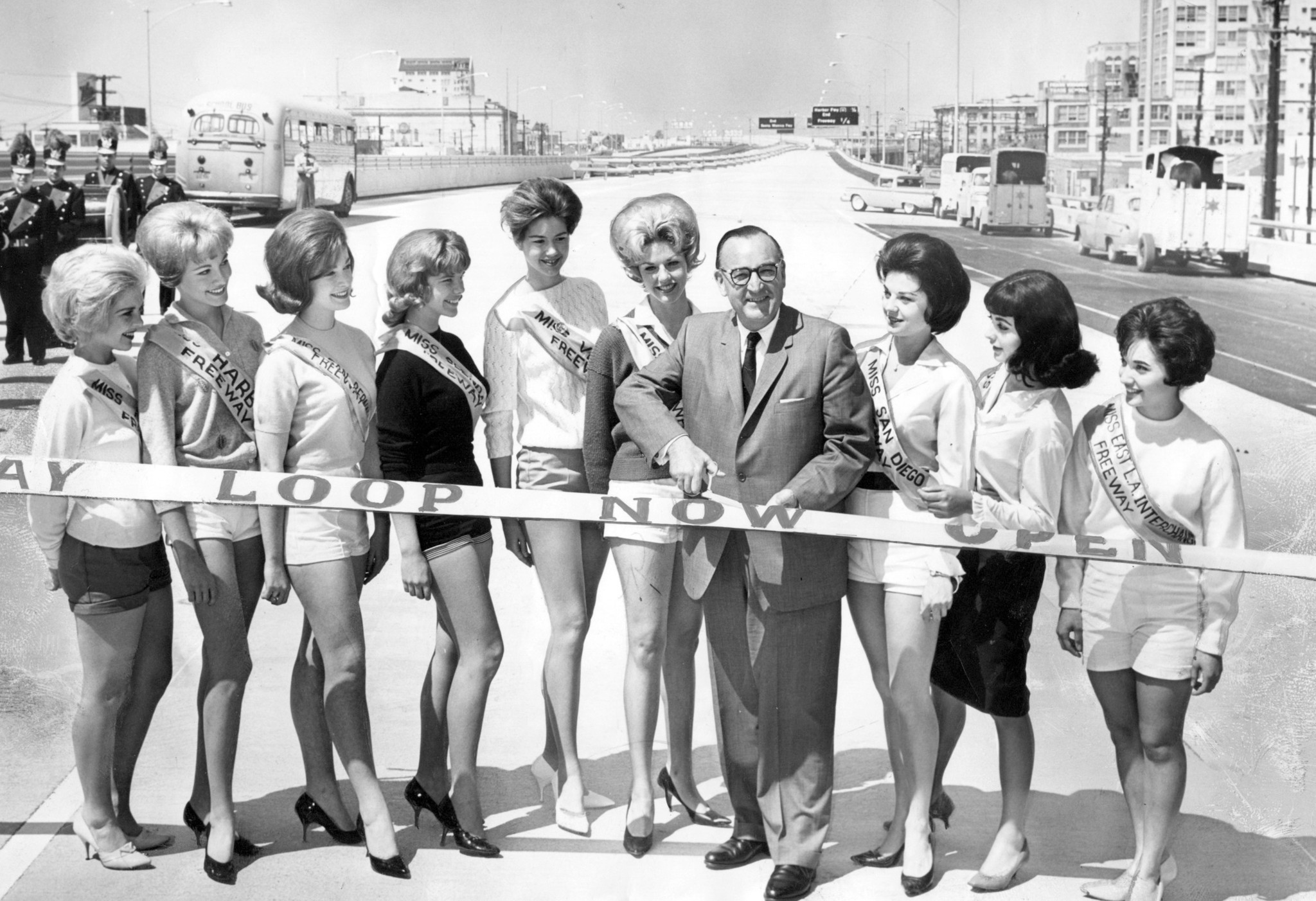 Gov. Pat Brown and the Santa Monica Freeway