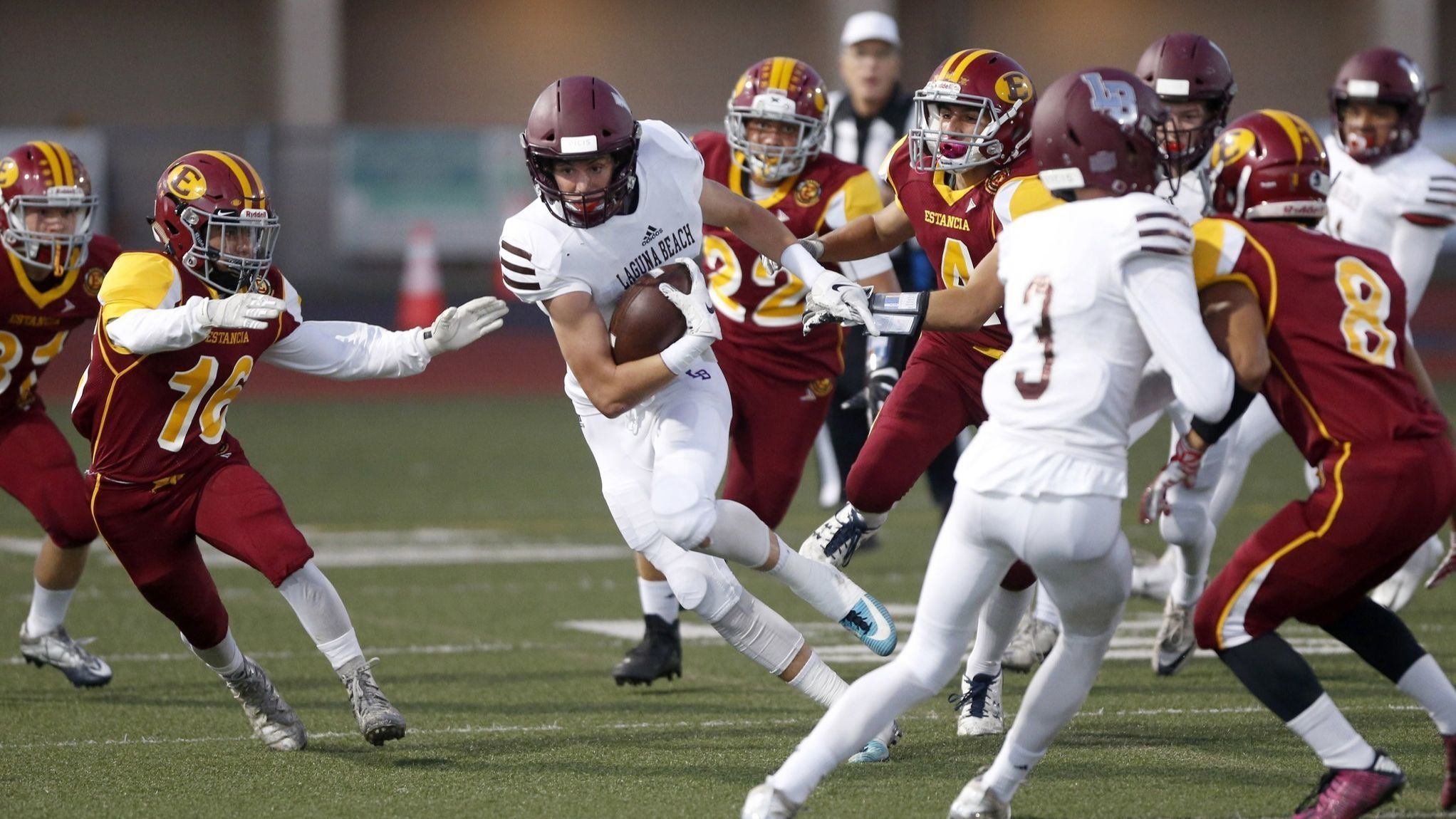 Laguna Beach football continues strong play with win at Estancia