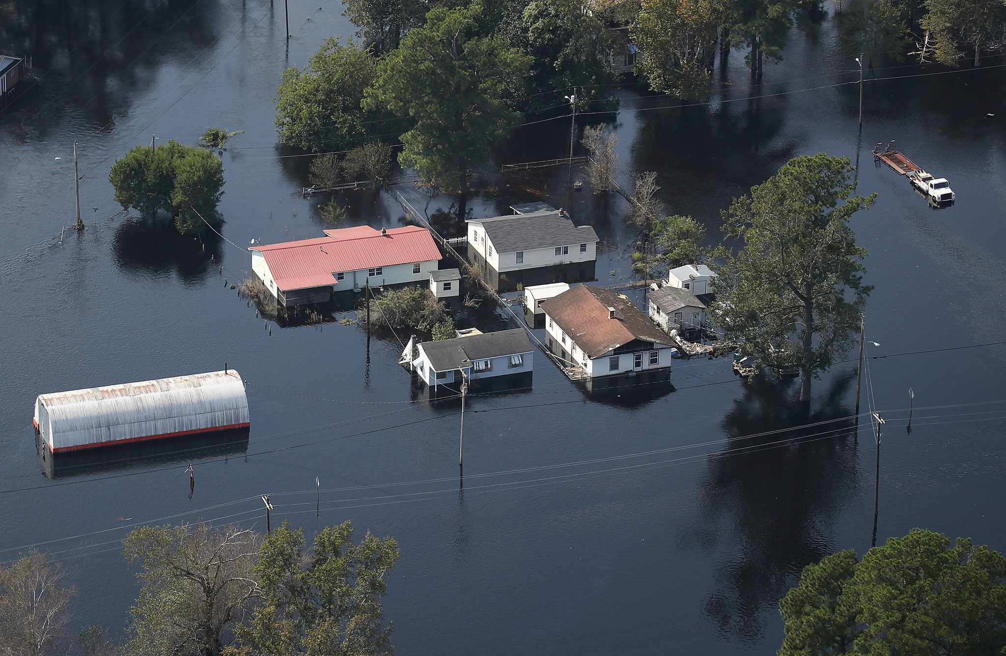 U.S. Military Surveys Flood Damage After Hurricane Florence