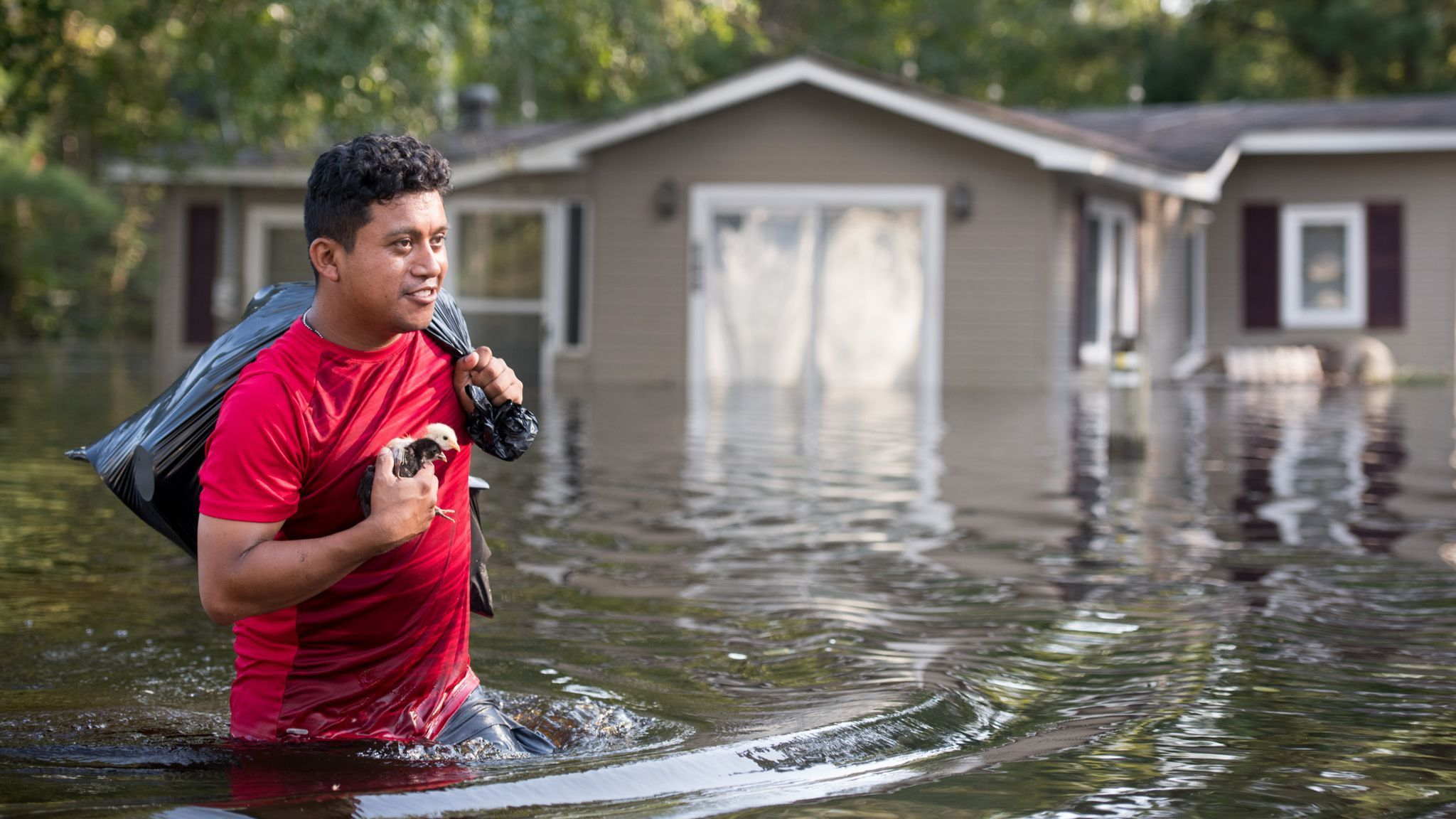 Flood Waters From Hurricane Florence Begin To Flood Parts Of South Carolina
