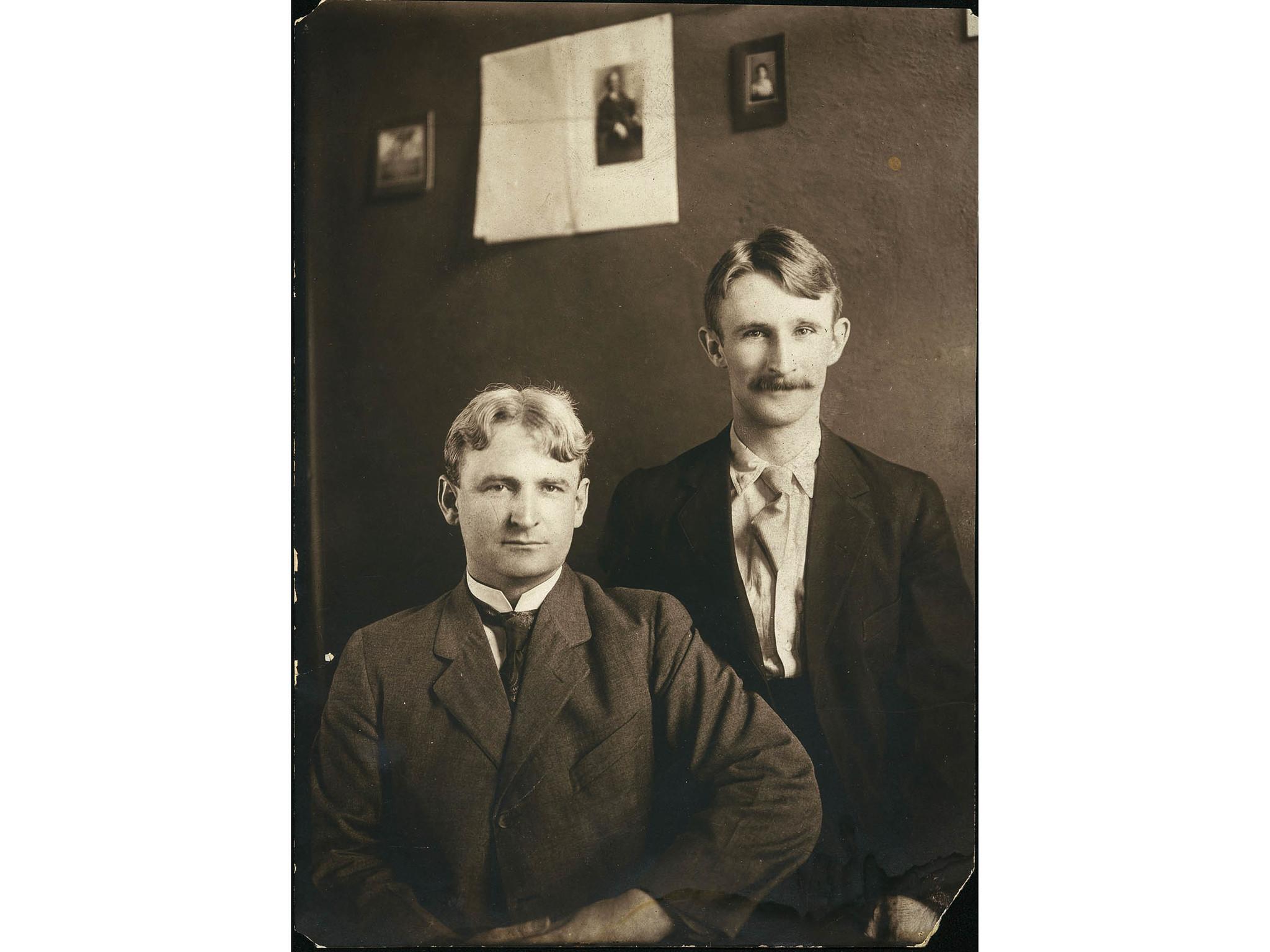 An undated photo of John J. McNamara, left, secretary-treasurer of the International Assn. of Bridge