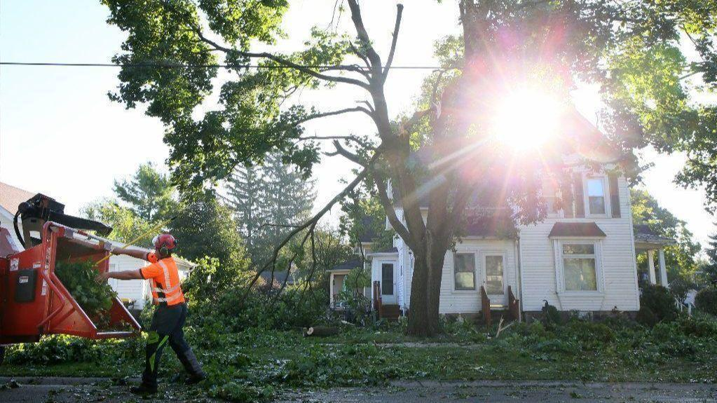 Fallen Trees Damaged Homes A Toppled 85 Foot Windmill