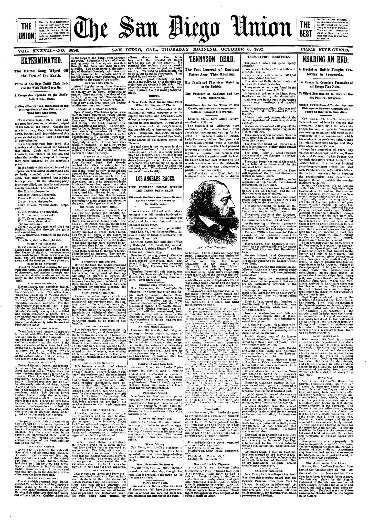 October 6, 1892