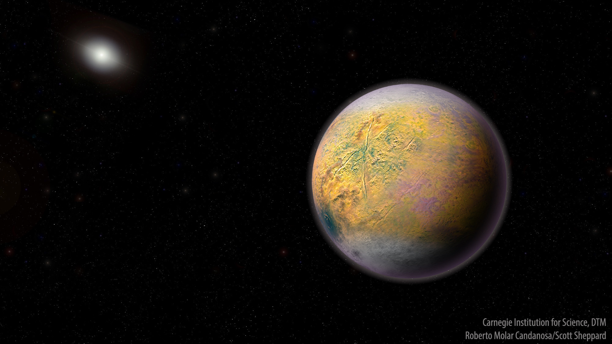New dwarf planet spotted at the very fringe of solar