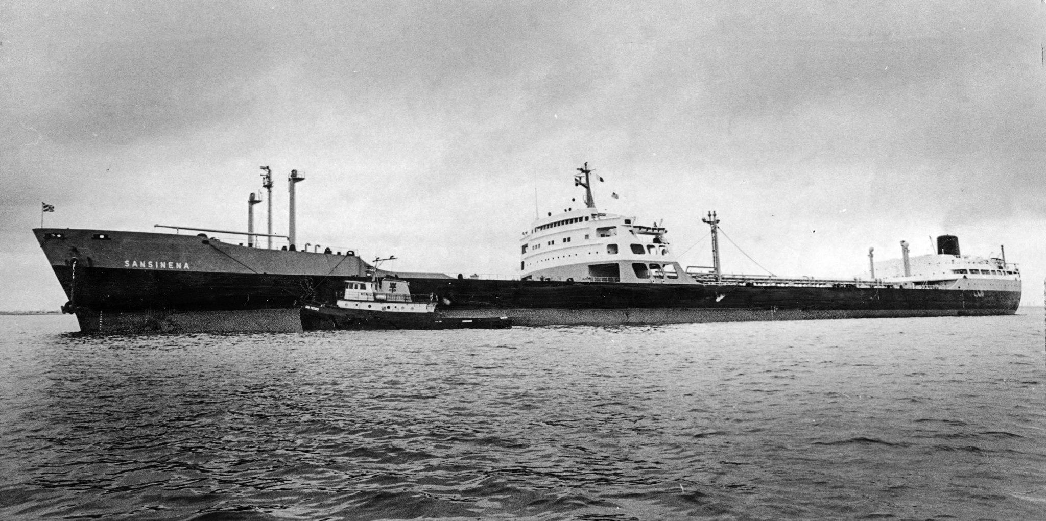 1975 photo of the Sansinena during a visit to Los Angeles Harbor. This photo appeared in the Dec. 18