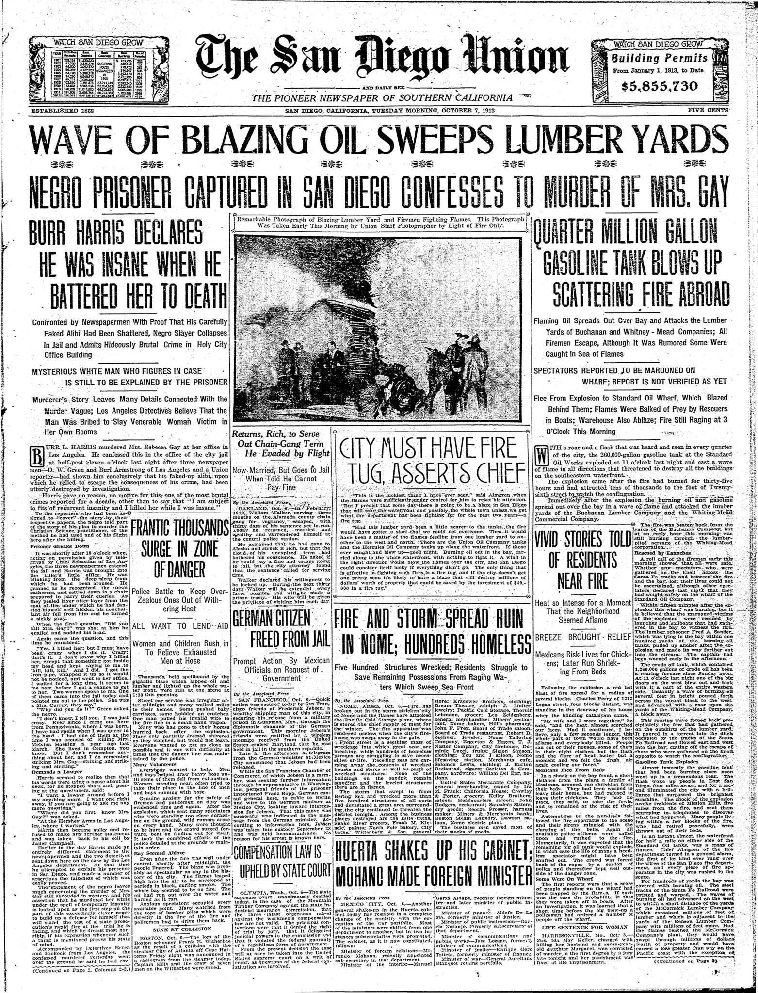 October 7, 1913
