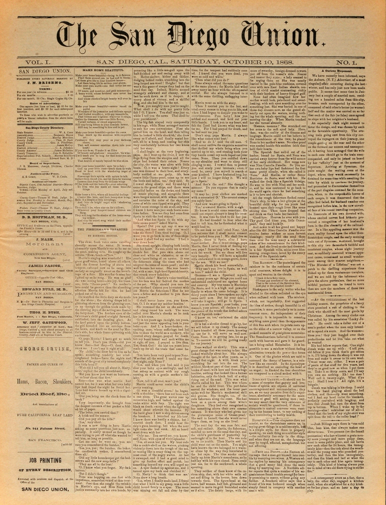 October 10, 1868