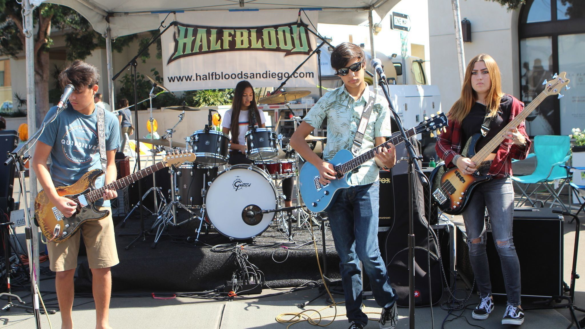 San Diego high-school band Halfblood performs well-received original rock 'n' roll.