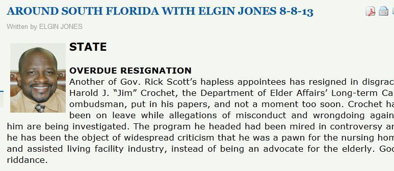 BSO's Elgin Jones still writing for newspaper - Sun Sentinel