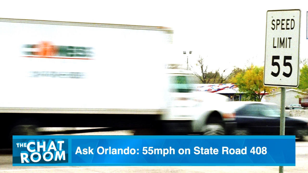 ask orlando why is the speed limit on s r 408 only 55 mph
