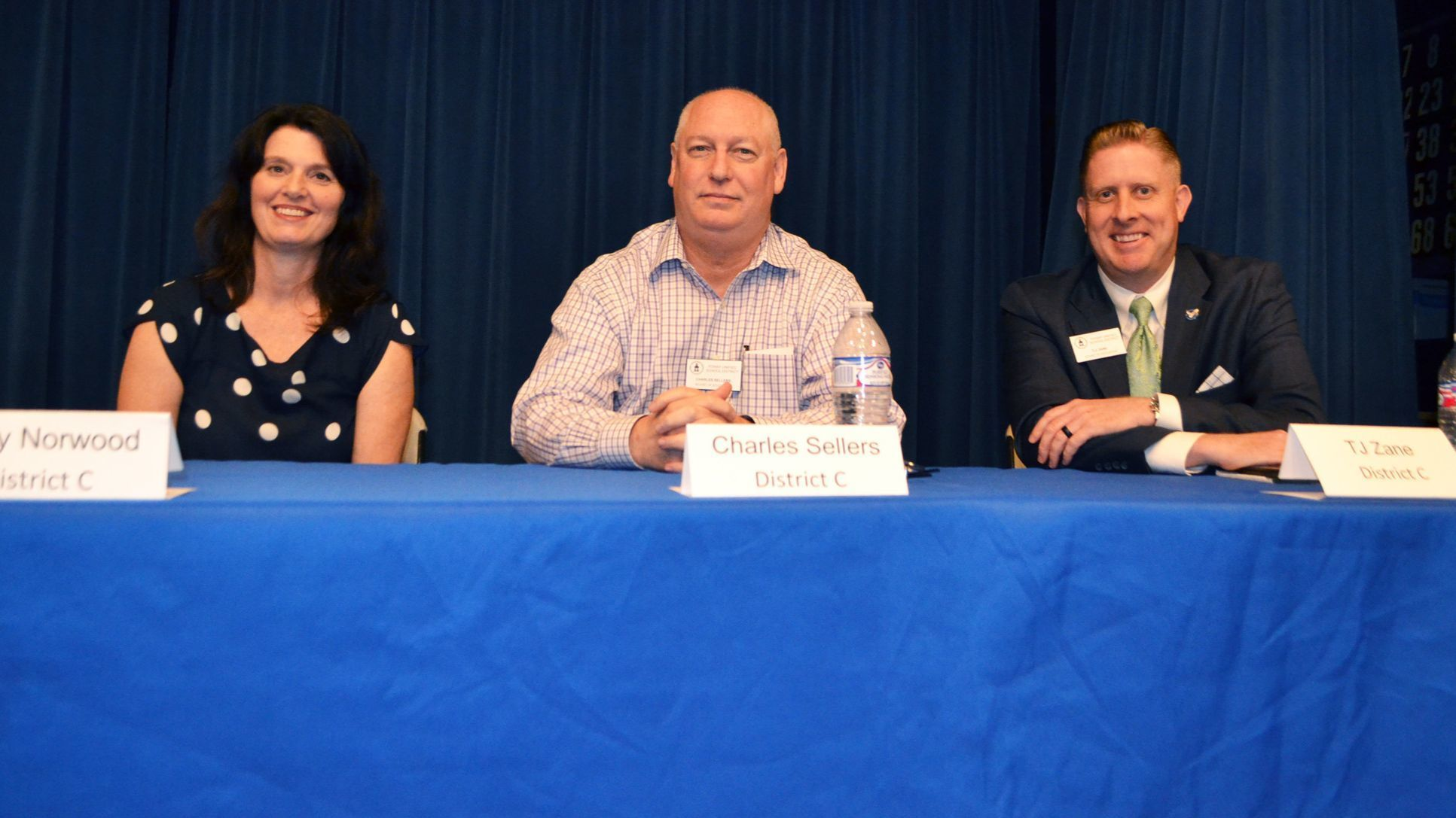 District C candidates Terry Norwood, Charles Sellers and T.J. Zane