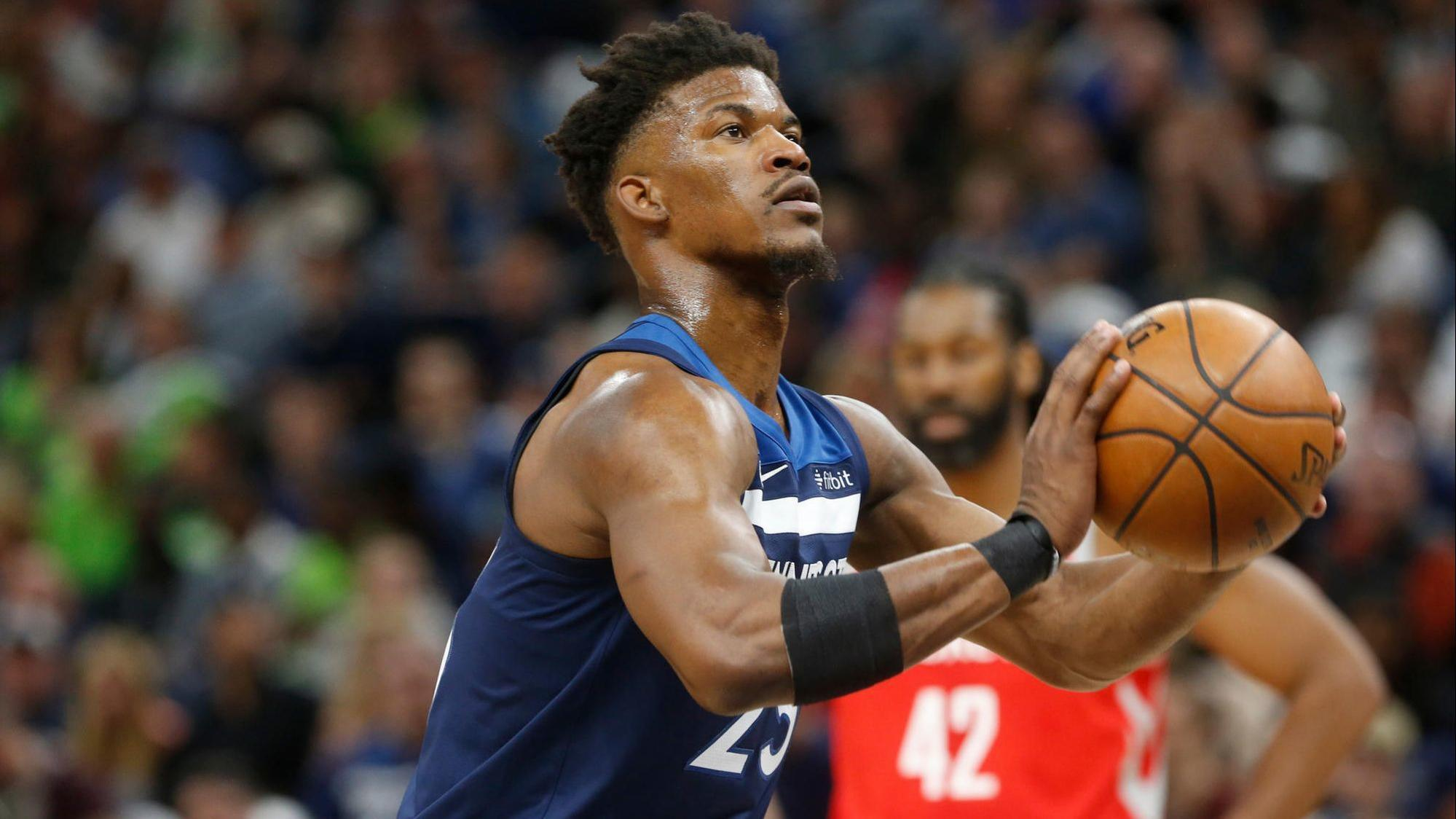 c91fe1fb605374 Emotional Jimmy Butler reportedly challenges Wolves teammates at practice