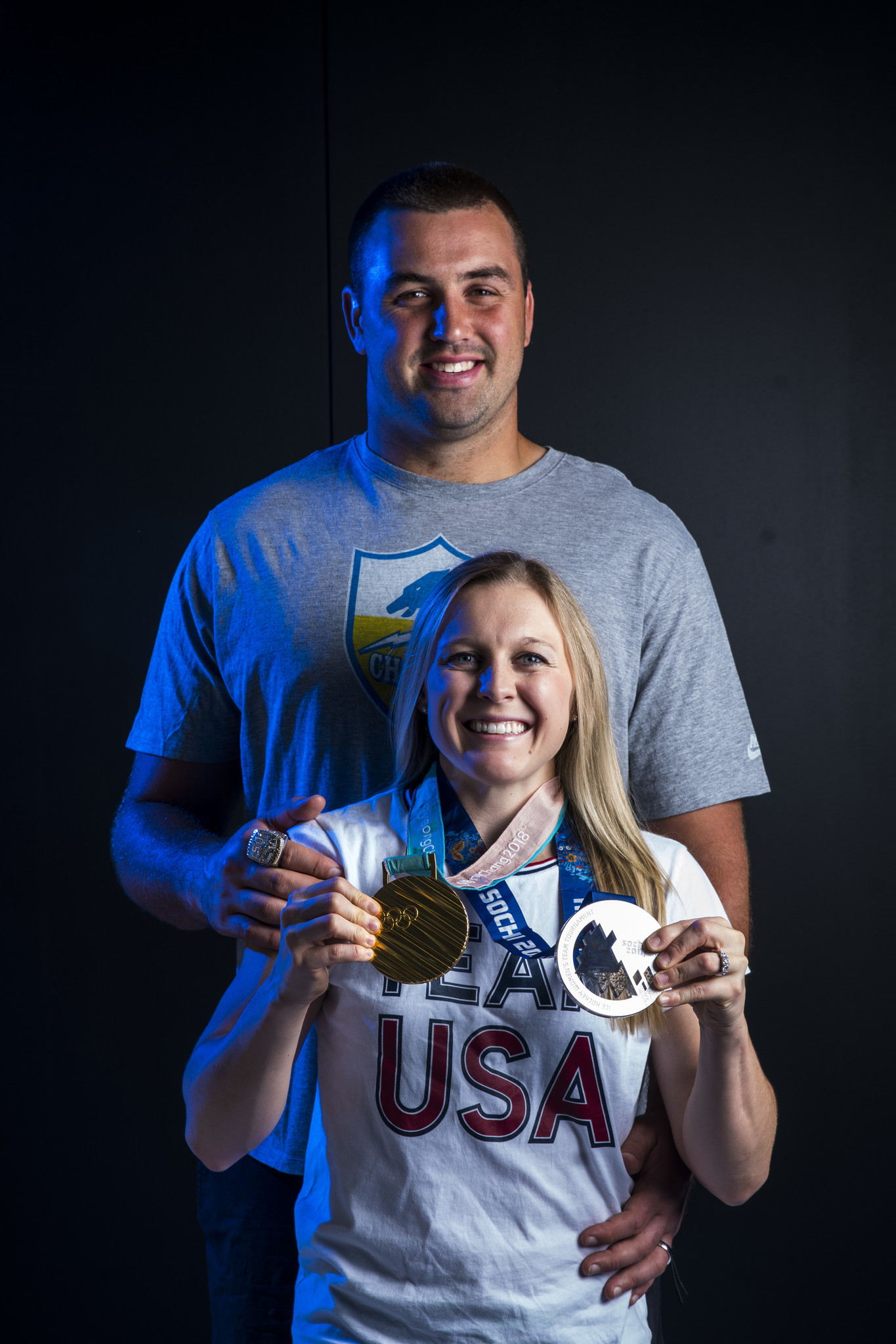 Michael Schofield and Kendall Coyne
