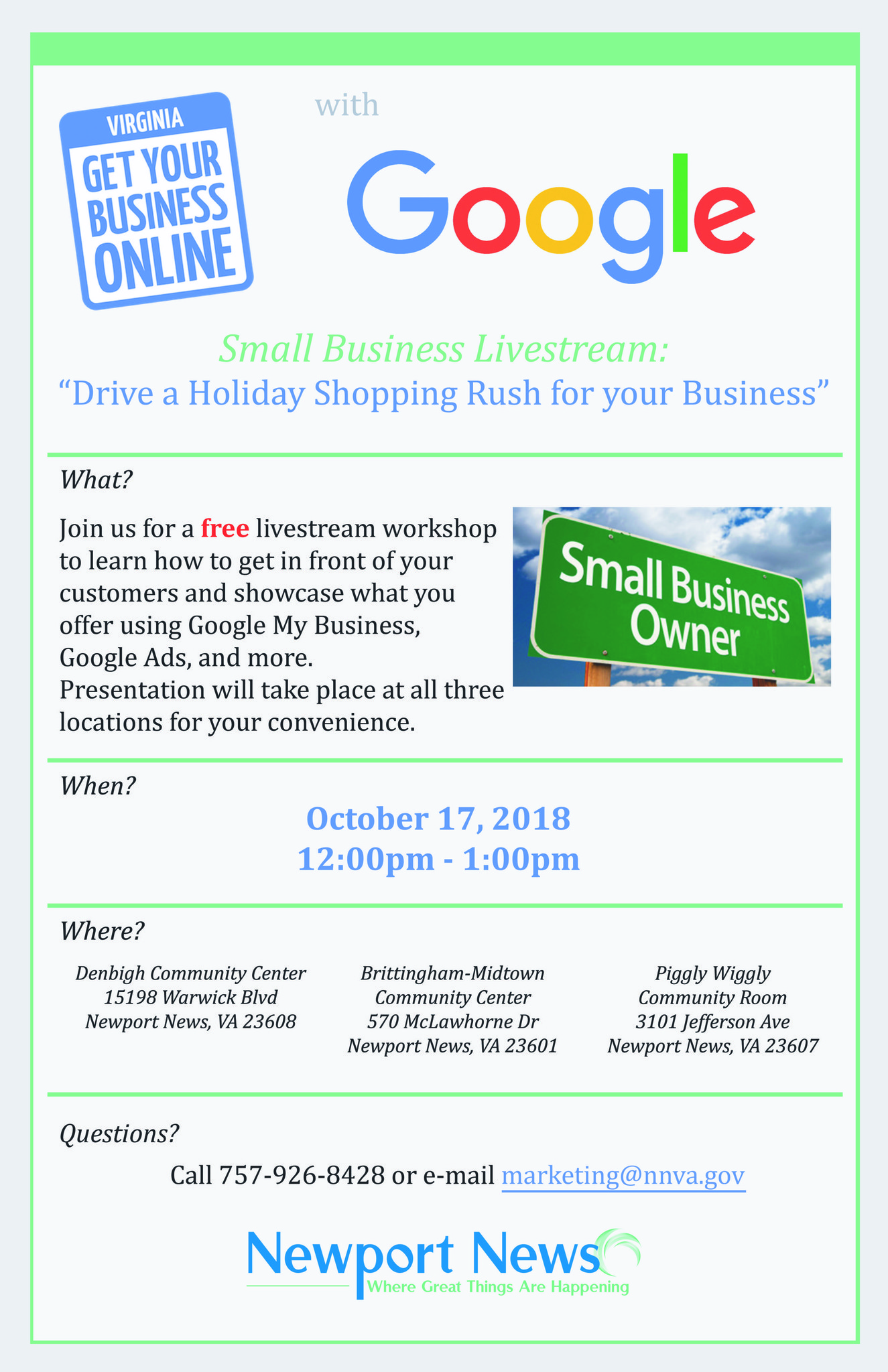 oct 17 free google business workshop in newport news daily press