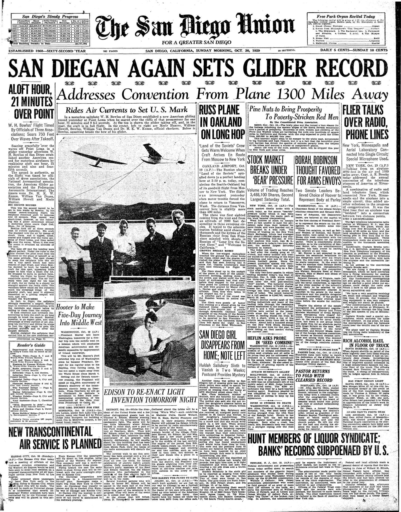 October 20, 1929