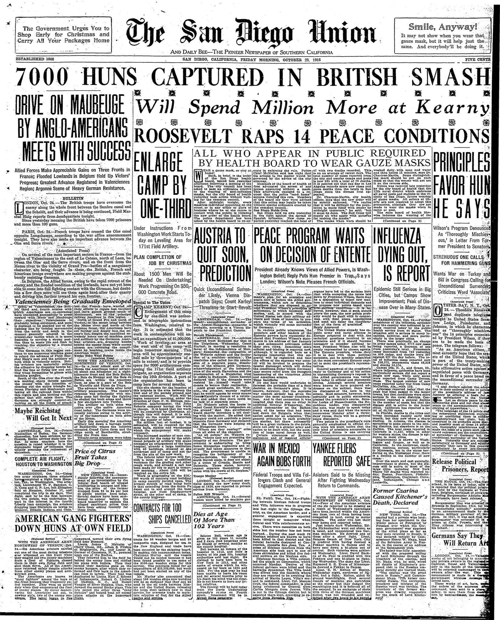 October 25, 1918
